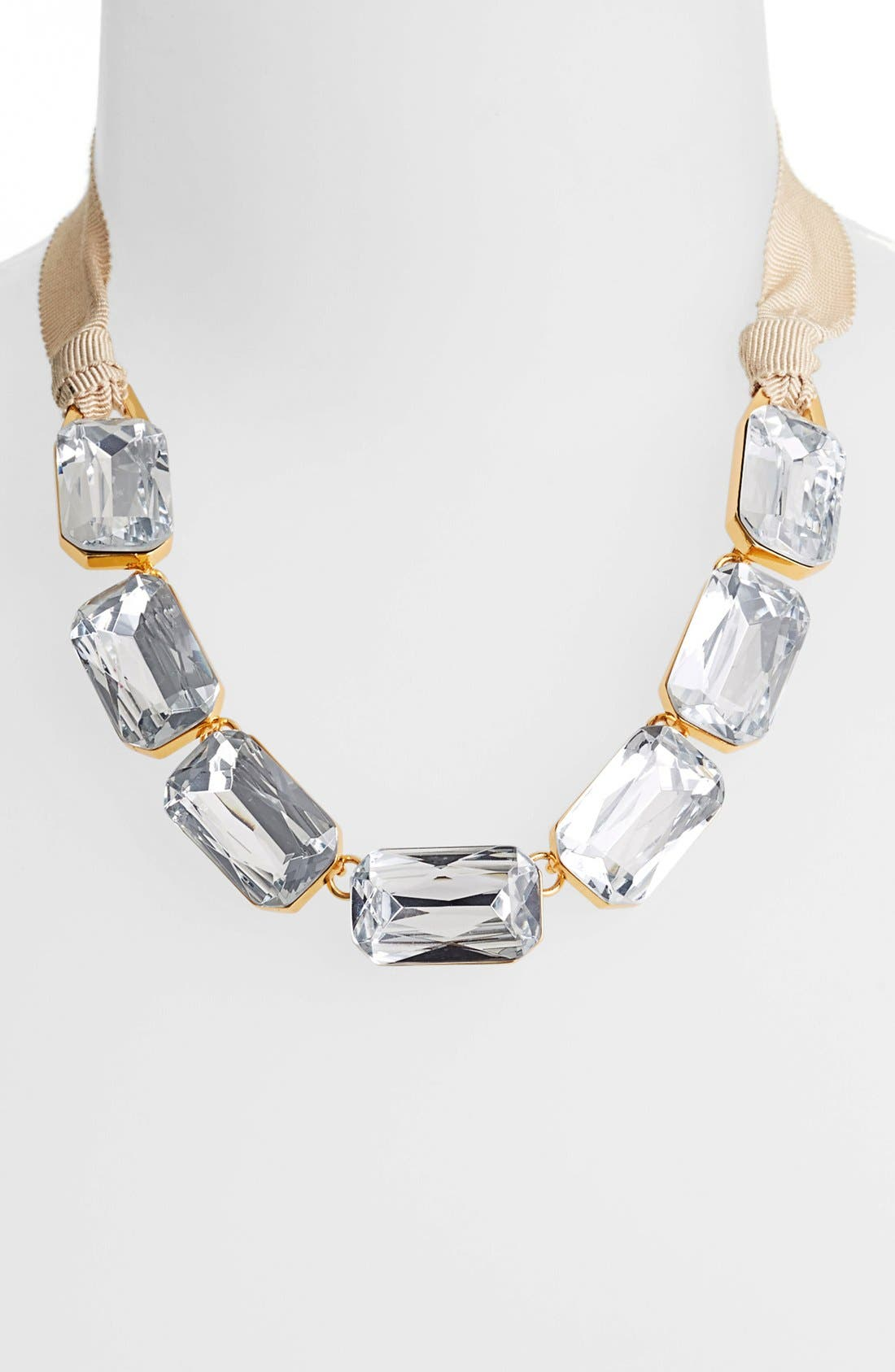 Main Image - Vince Camuto 'Crystal Clear' Crystal & Ribbon Frontal Necklace