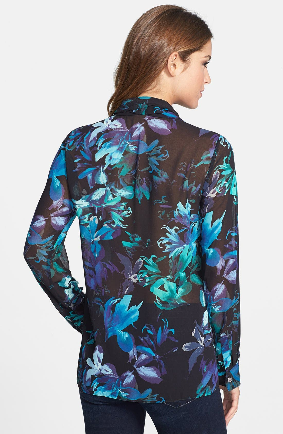 Alternate Image 2  - Vince Camuto Floral Print Wrap Blouse (Online Only)