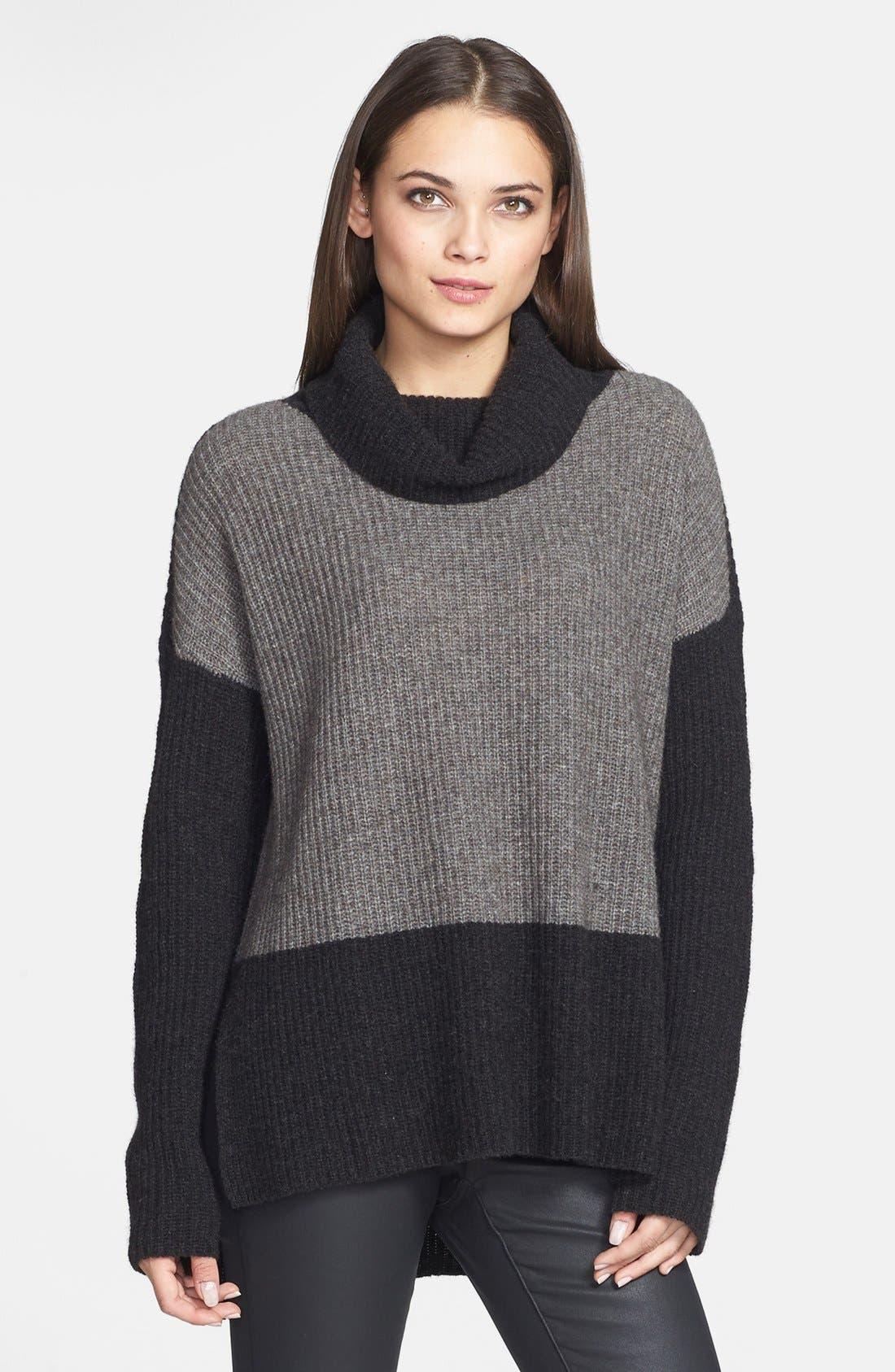 Main Image - Eileen Fisher Supersoft Yak Hair & Wool Turtleneck Sweater