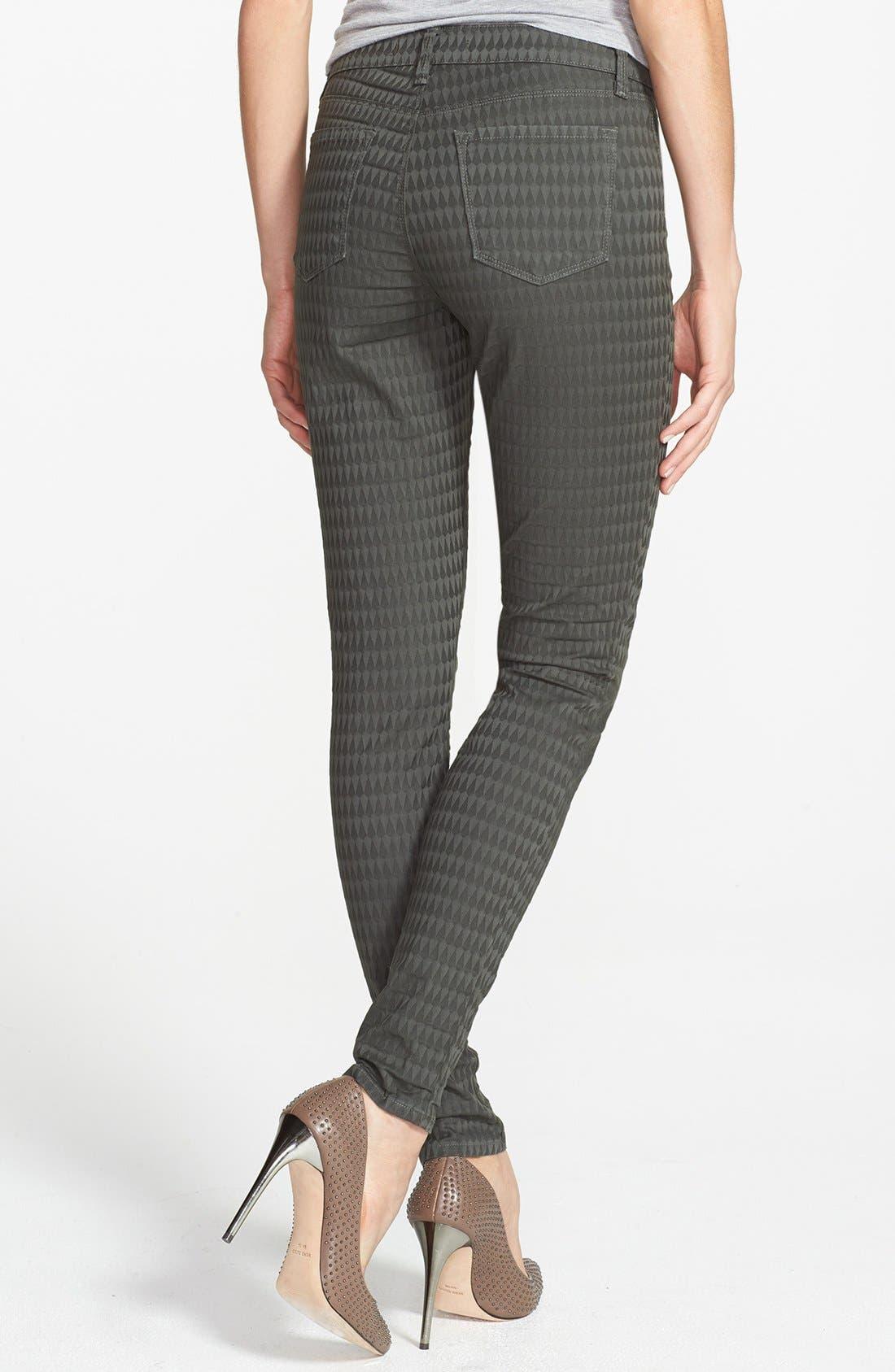 Alternate Image 2  - J Brand Jacquard Skinny Jeans (Mica)