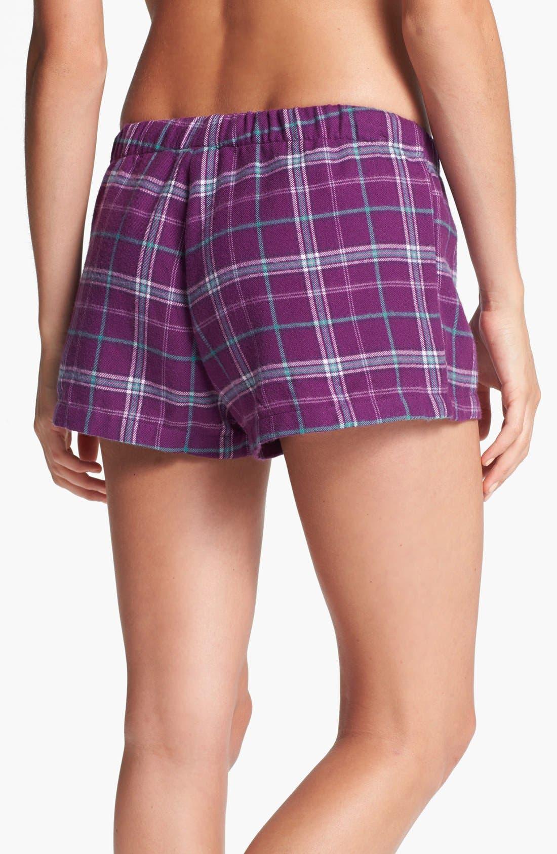 Alternate Image 2  - Make + Model Flannel Shorts