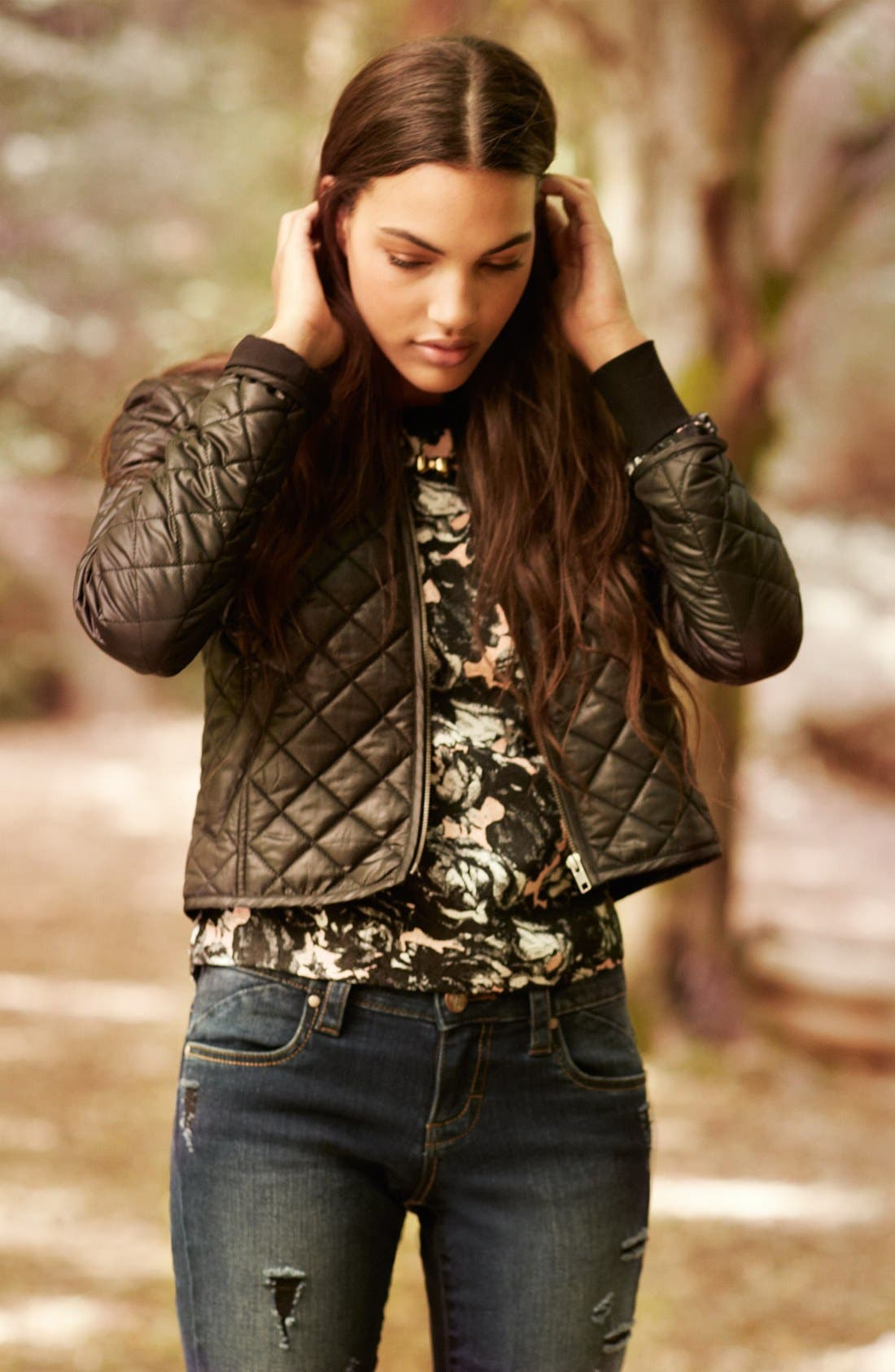 Main Image - Frenchi® Jacket, Elodie Top & STS Blue Jeans