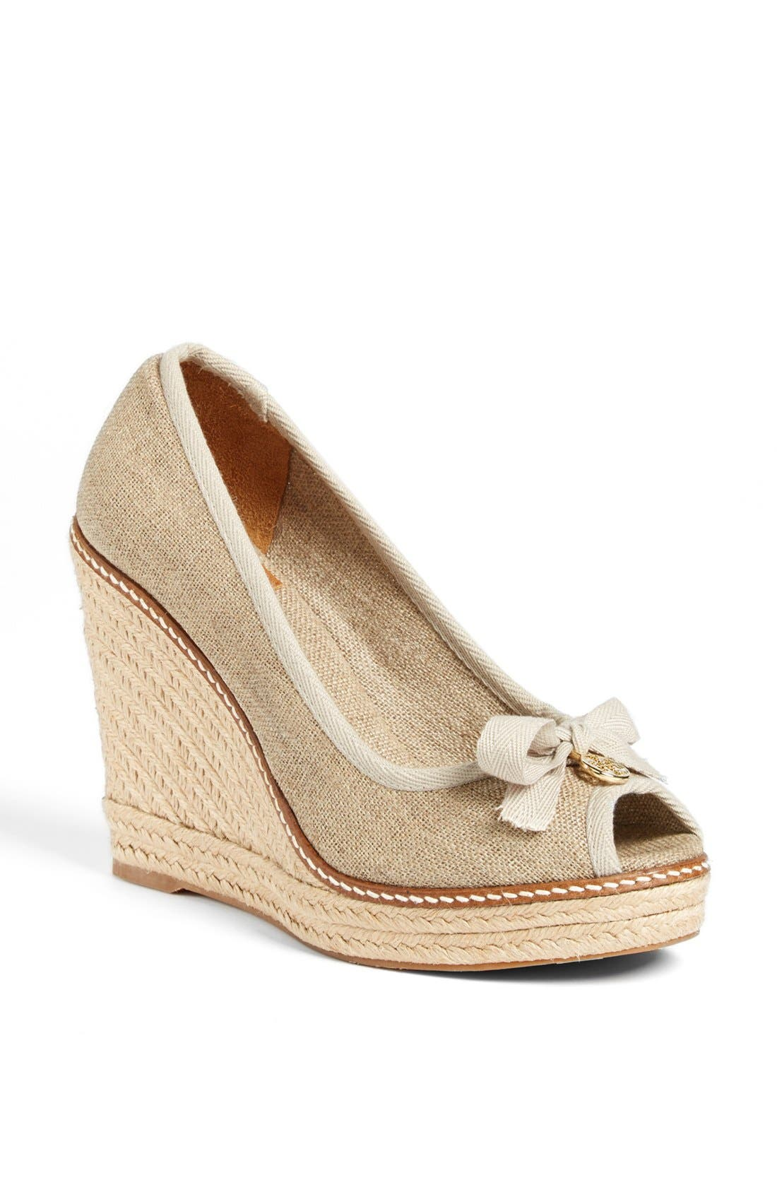Main Image - Tory Burch 'Jackie' Espadrille Wedge