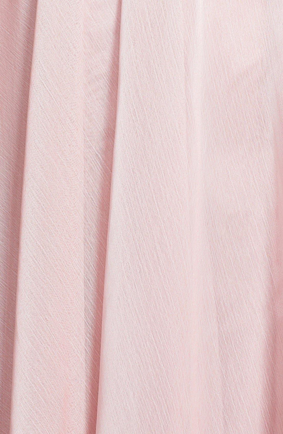 Alternate Image 3  - ML Monique Lhuillier Bridesmaids One-Shoulder Chiffon Gown (Nordstrom Exclusive)