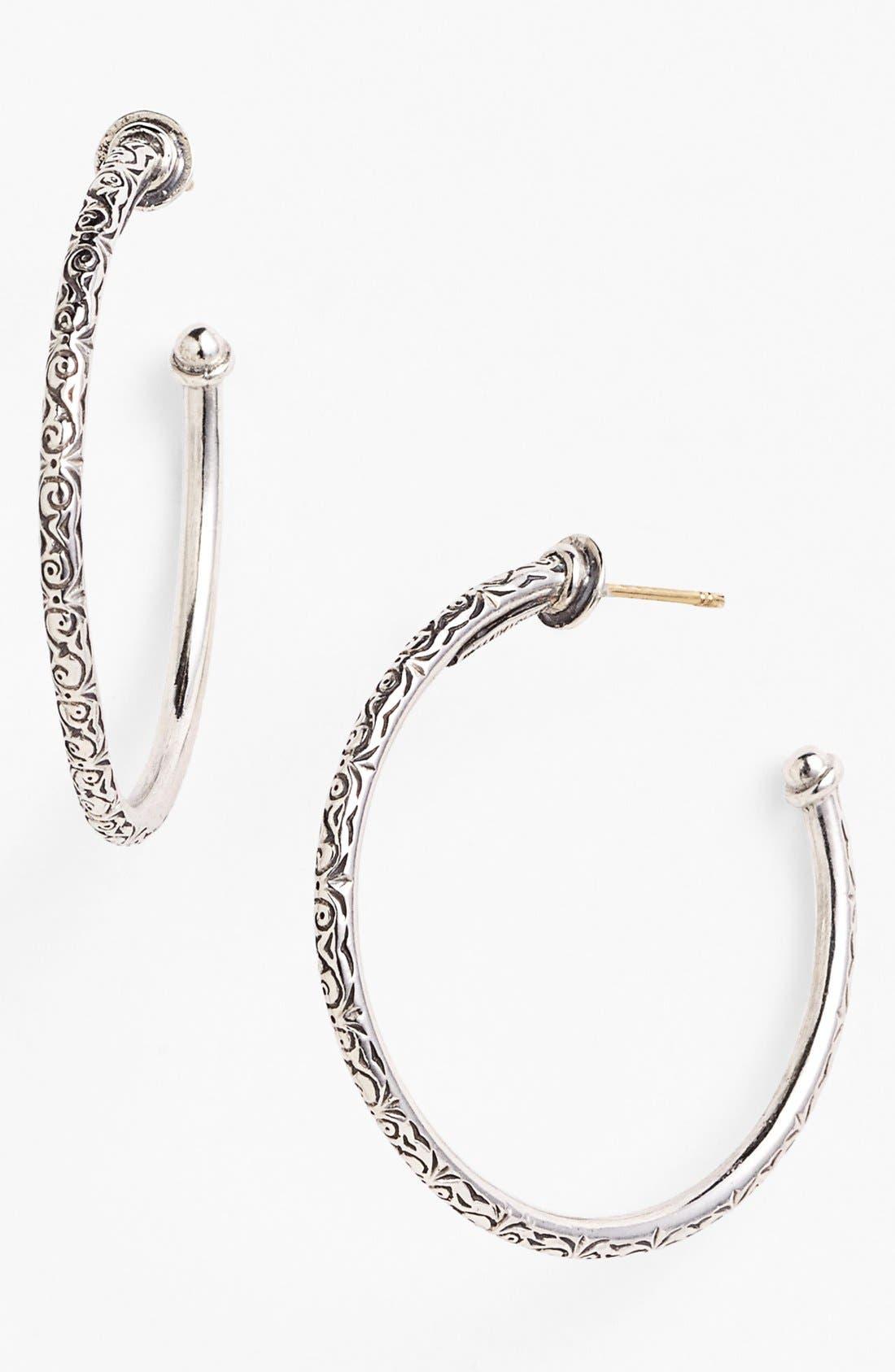 'Classics' Medium Hoop Earrings,                         Main,                         color, Silver