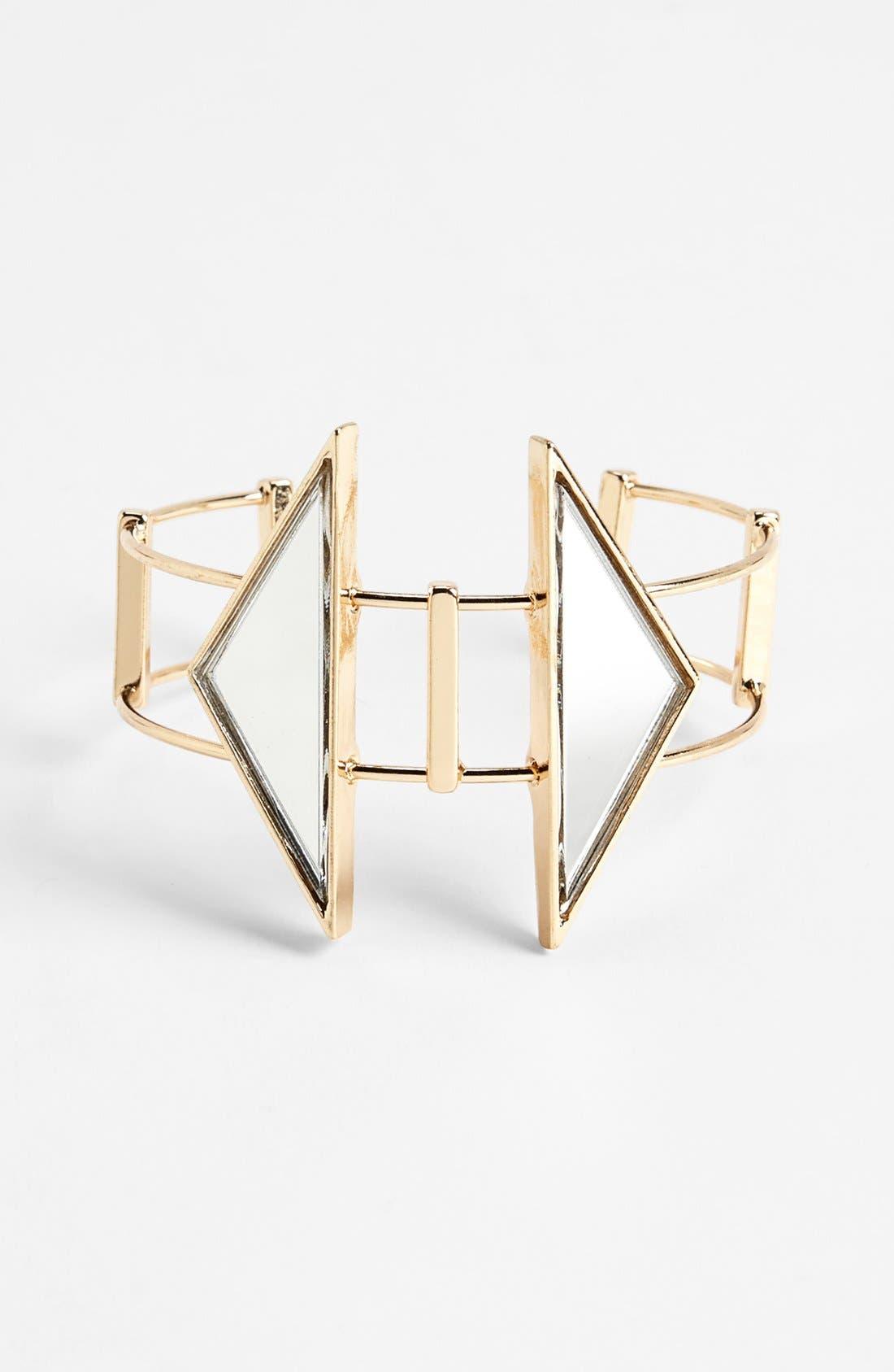 Alternate Image 1 Selected - Topshop Mirror Arrow Cuff Bracelet