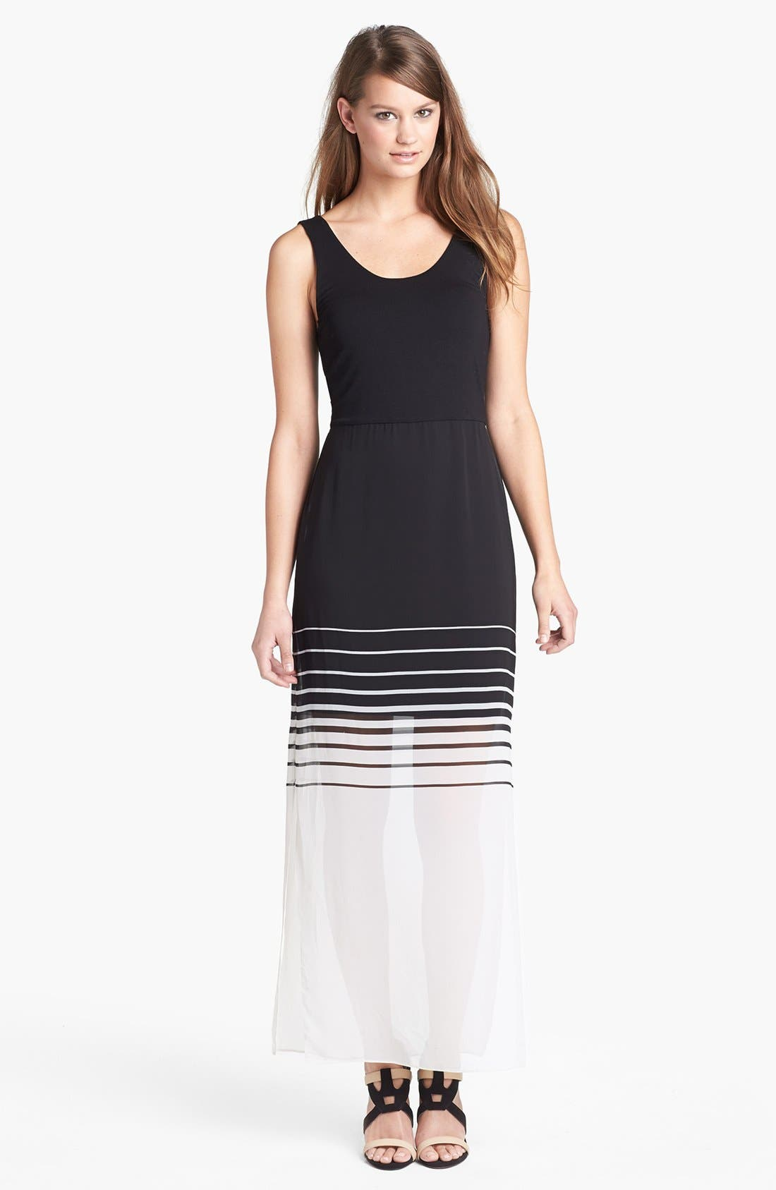 Alternate Image 1 Selected - Vince Camuto Chiffon Overlay Tank Maxi Dress