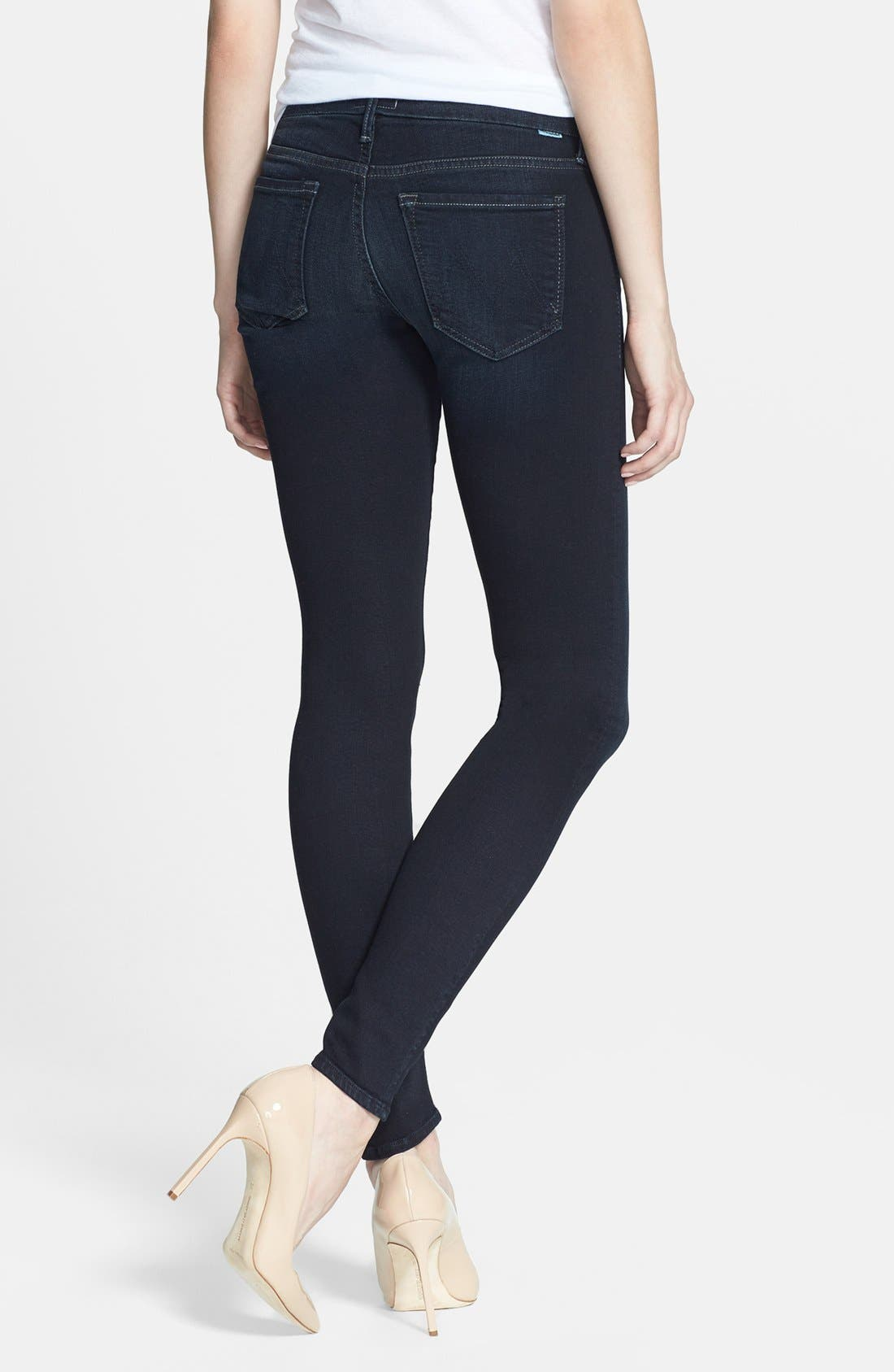 Alternate Image 2  - MOTHER 'The Looker' Stretch Skinny Jeans (Bittersweet)
