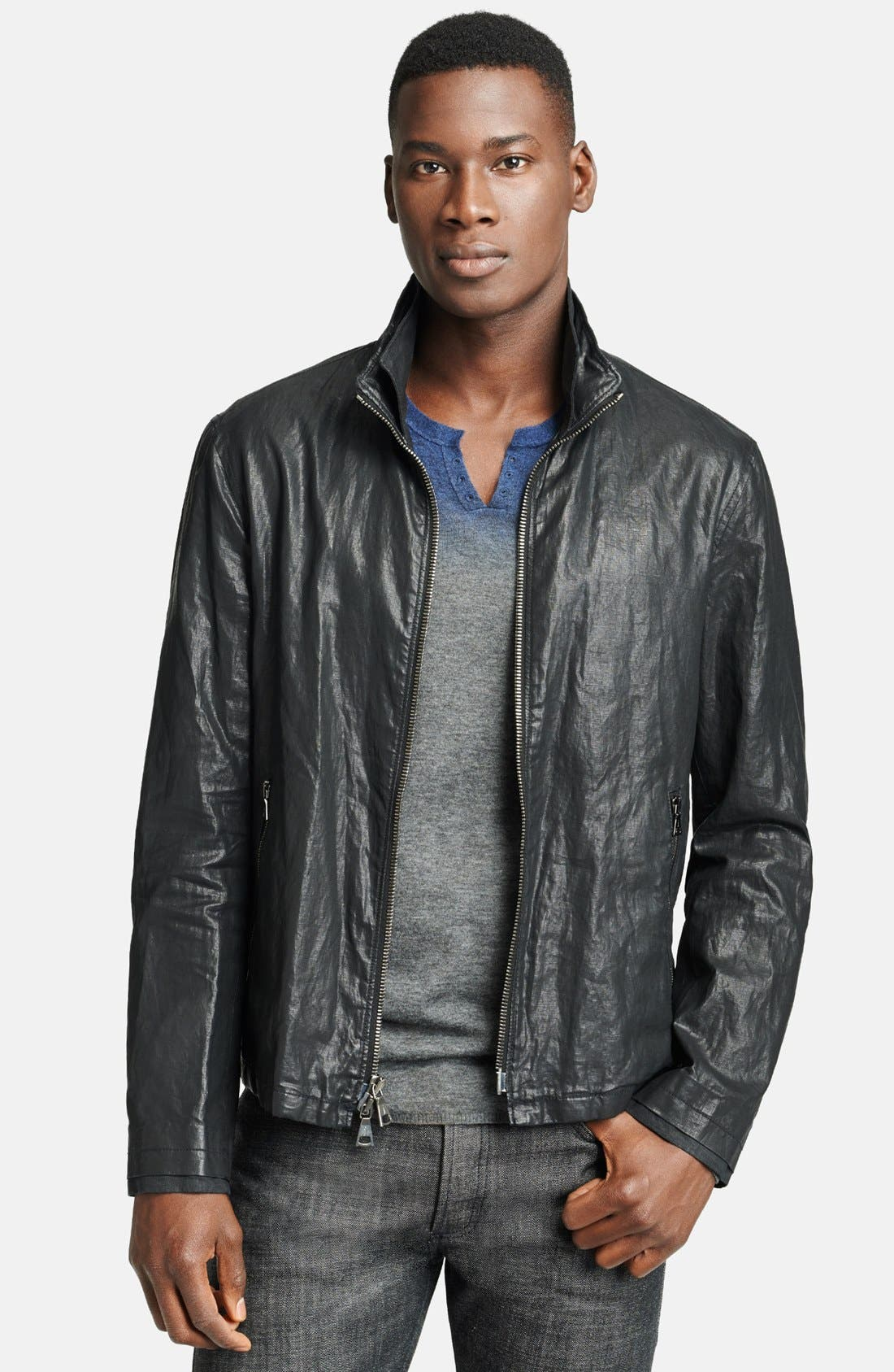 Main Image - John Varvatos Collection Resin Coated Linen Jacket