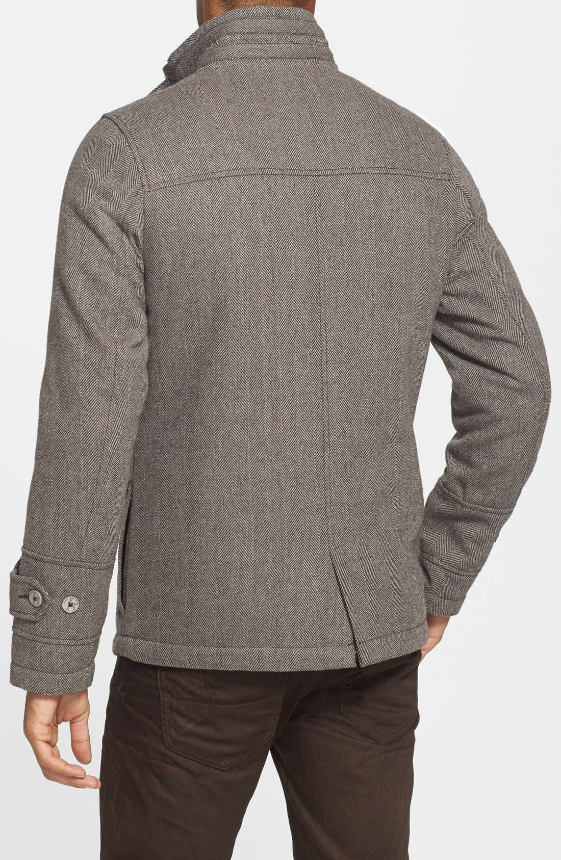 Alternate Image 2  - Kane & Unke Herringbone Jacket