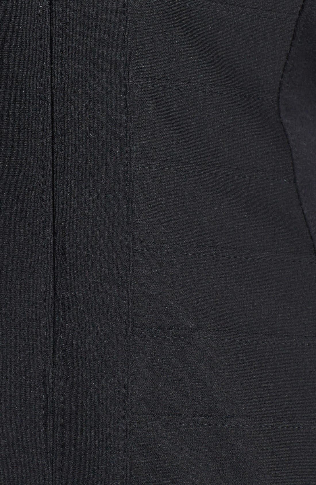 Alternate Image 3  - T by Tadashi Illusion Yoke Stretch Jersey Sheath Dress (Regular & Petite)