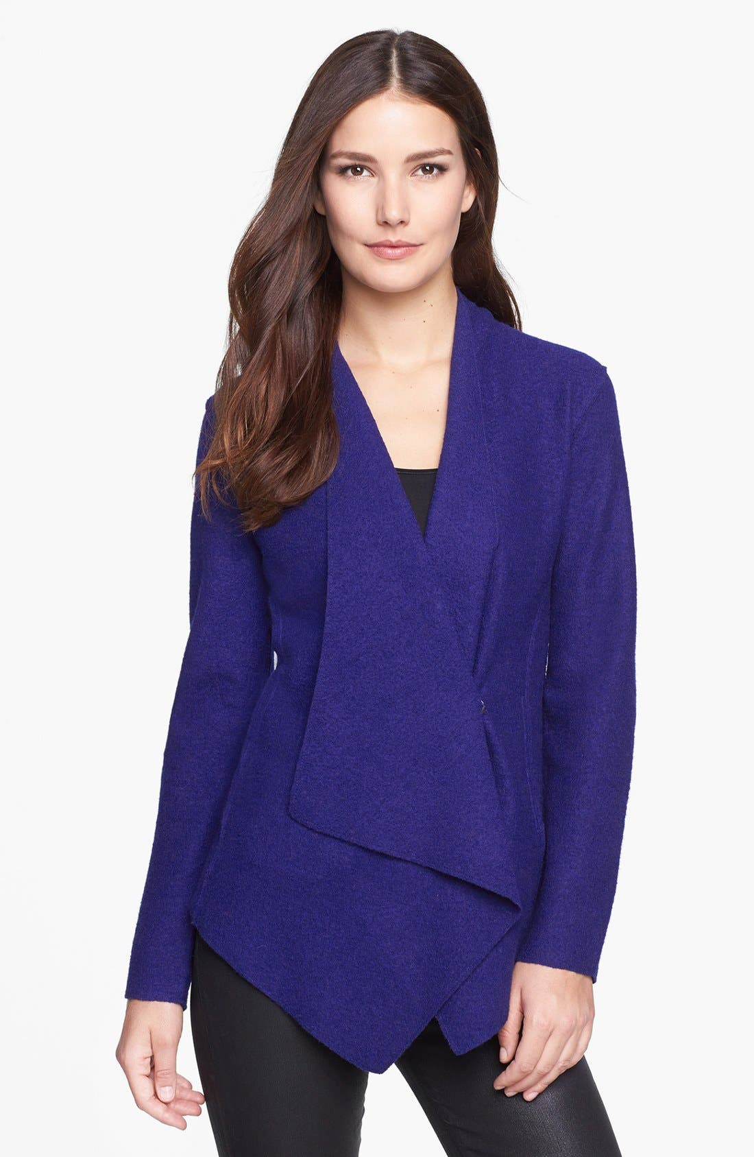 Alternate Image 1 Selected - Eileen Fisher Lightweight Boiled Wool Jacket (Regular & Petite)