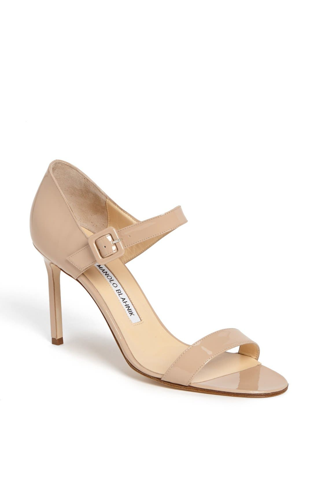 Main Image - Manolo Blahnik 'Nellang' Patent Leather Sandal