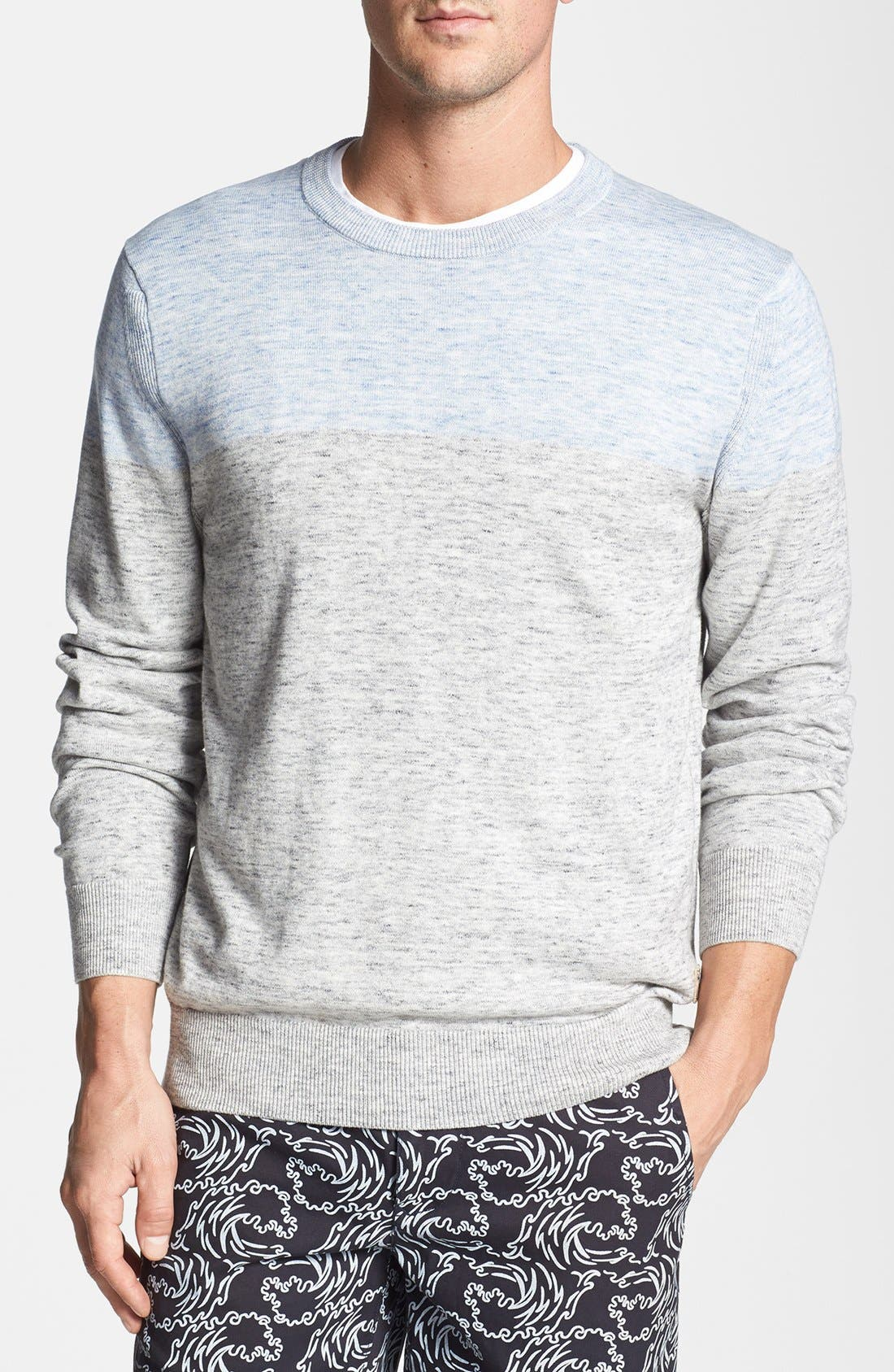 Main Image - Surfside Supply Colorblock Heathered Cotton Sweater