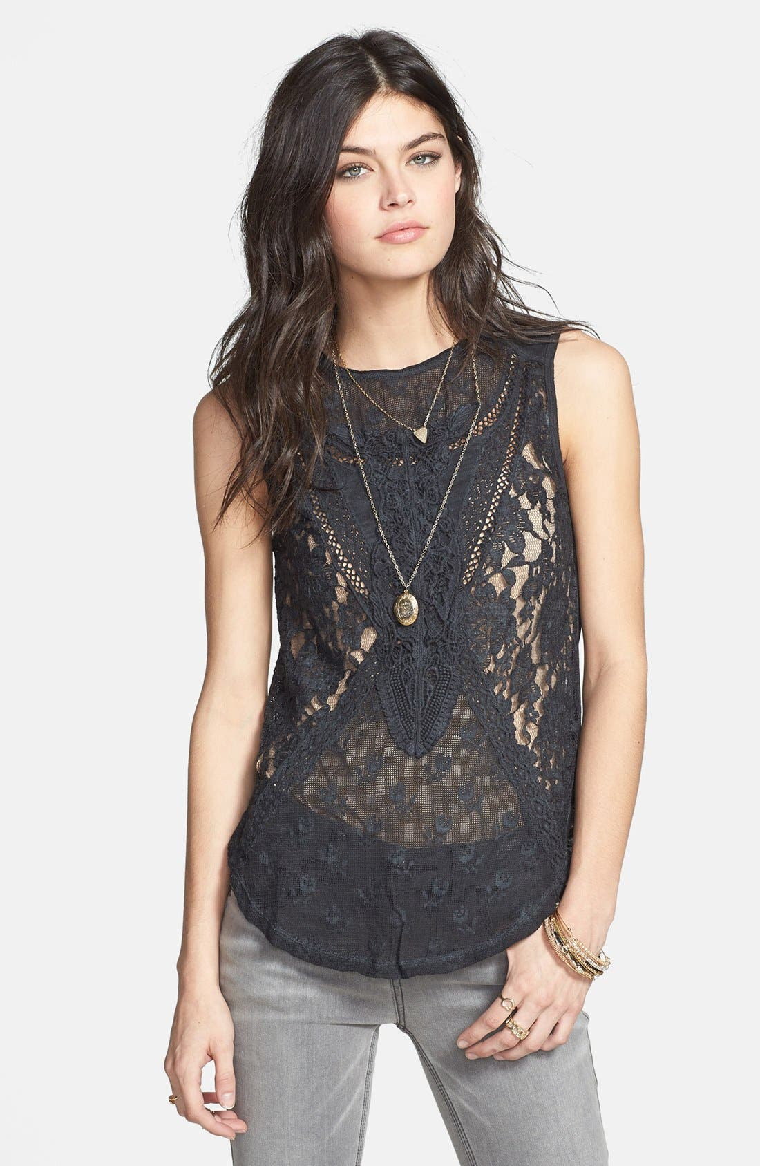 Main Image - Free People 'Not So Sweet' Lace Tank