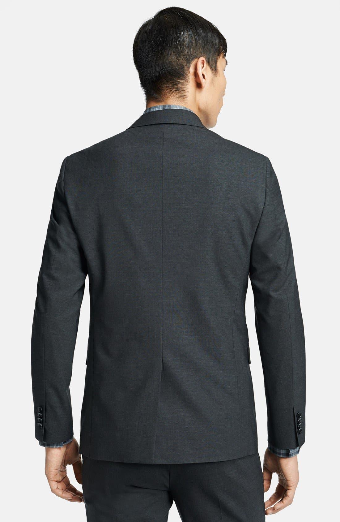 'Wellar New Tailor' Trim Fit Wool Blend Sport Coat,                         Main,                         color, Dark Charcoal
