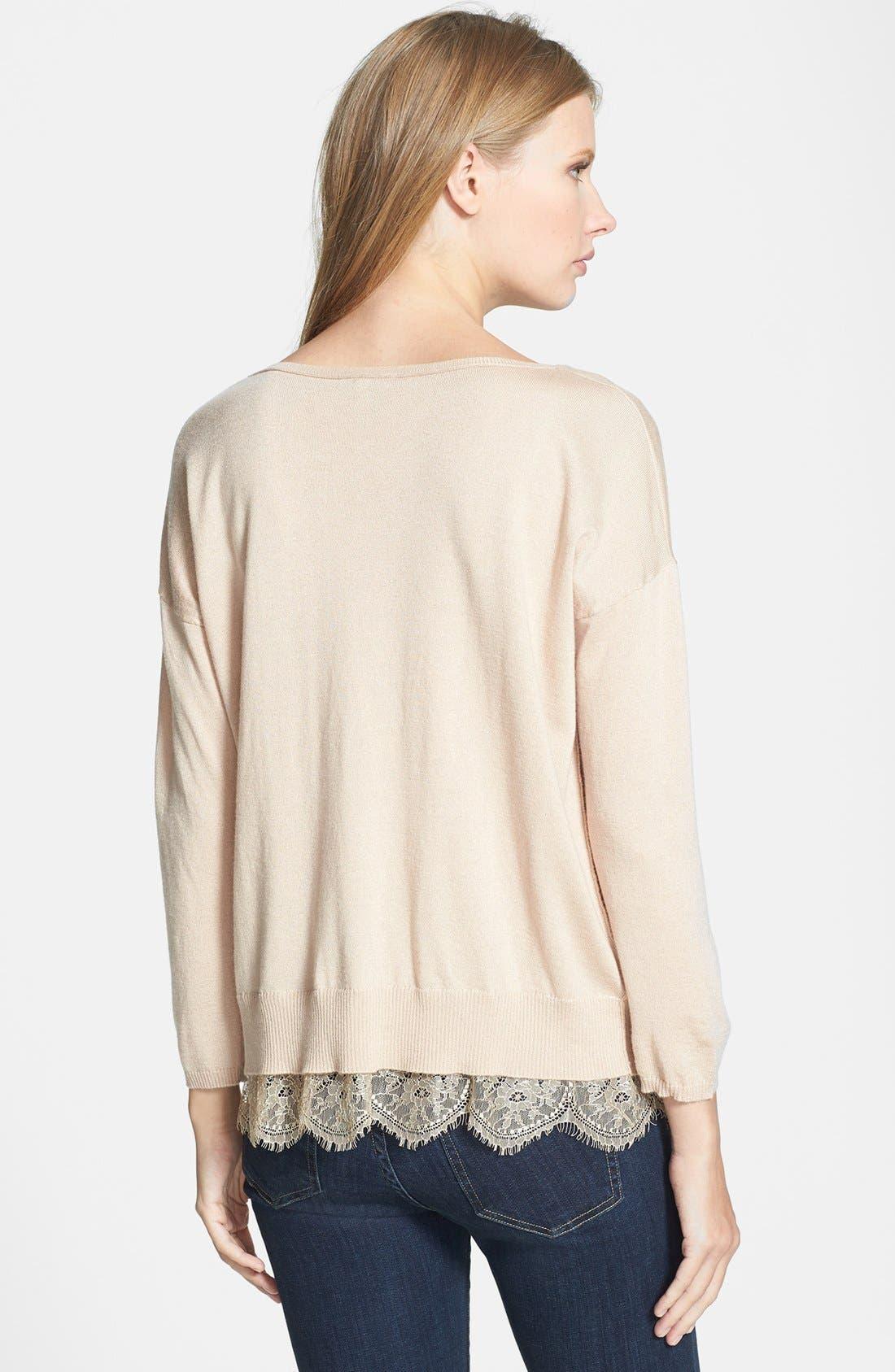 Alternate Image 2  - Joie 'Hilano' Lace Trim Sweater