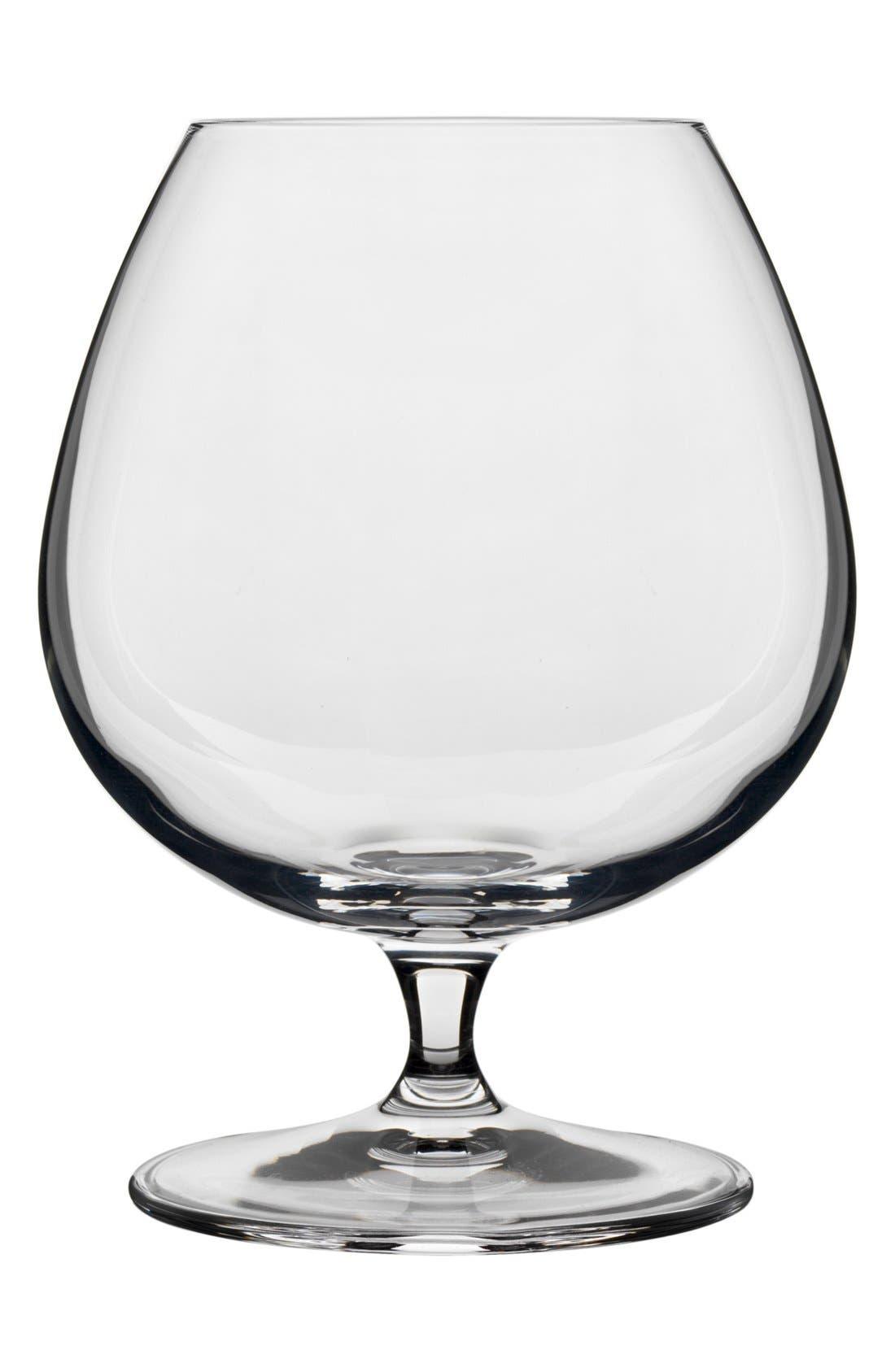 'Crescendo' Cognac Glasses,                             Main thumbnail 1, color,                             Clear