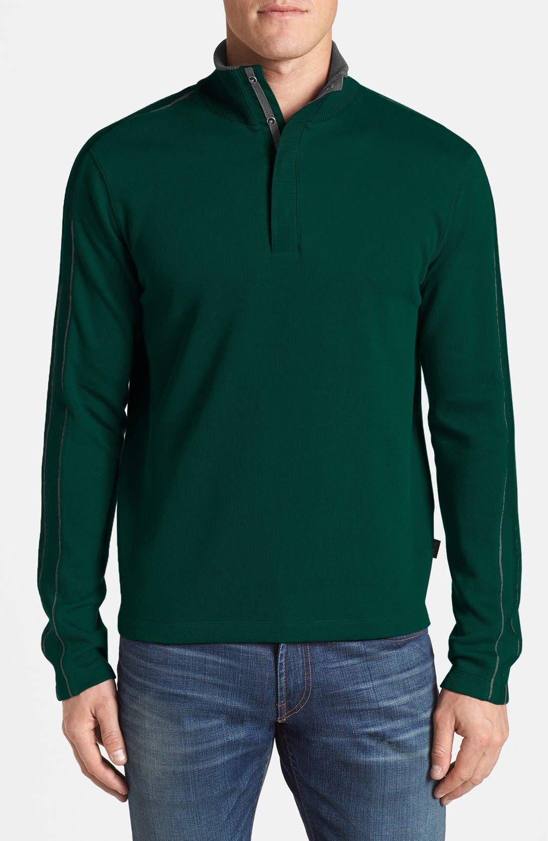 Alternate Image 1 Selected - BOSS HUGO BOSS 'Piceno' Regular Fit Long Sleeve Pullover