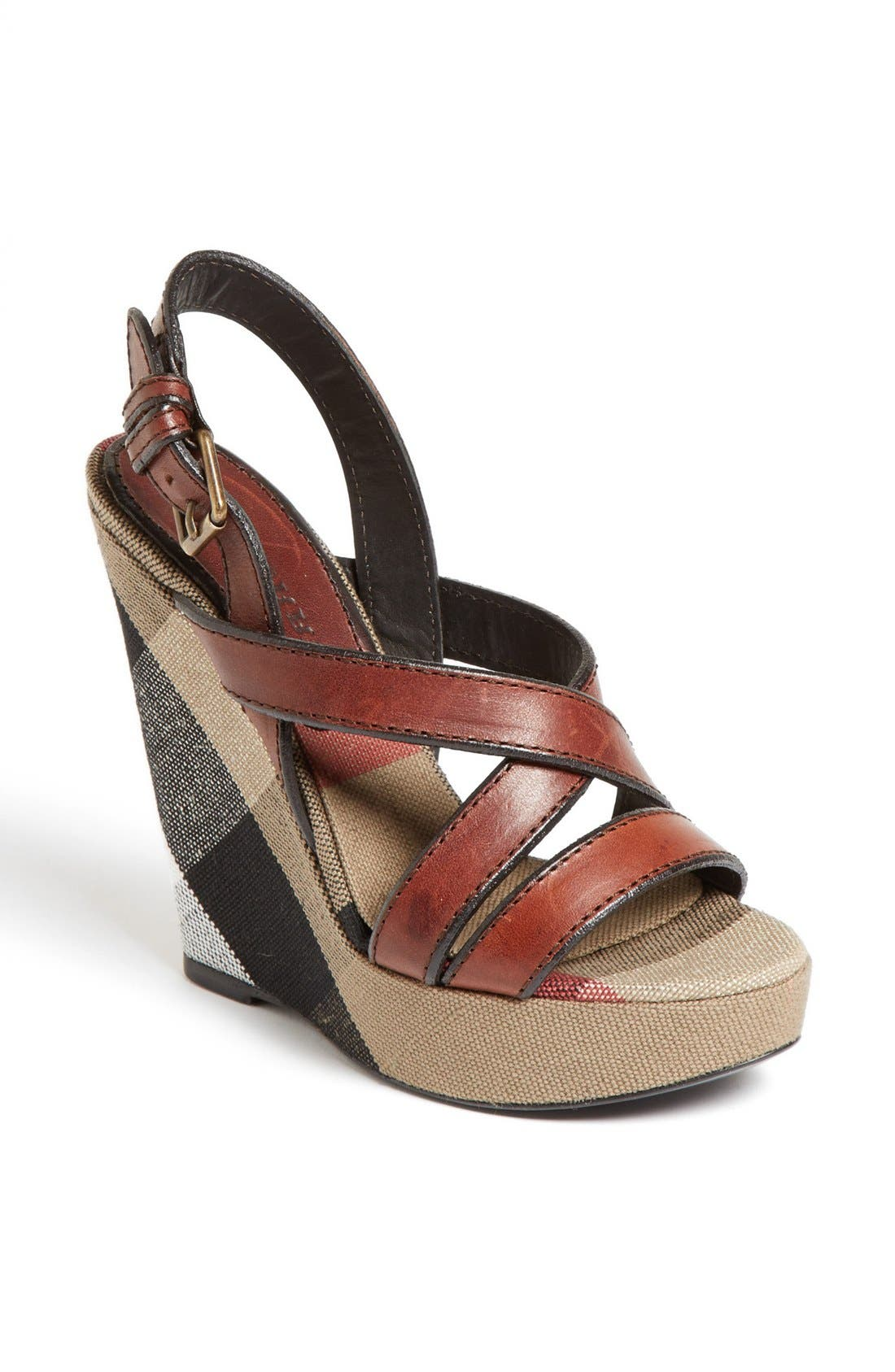 Main Image - Burberry 'Warlow' Leather Sandal