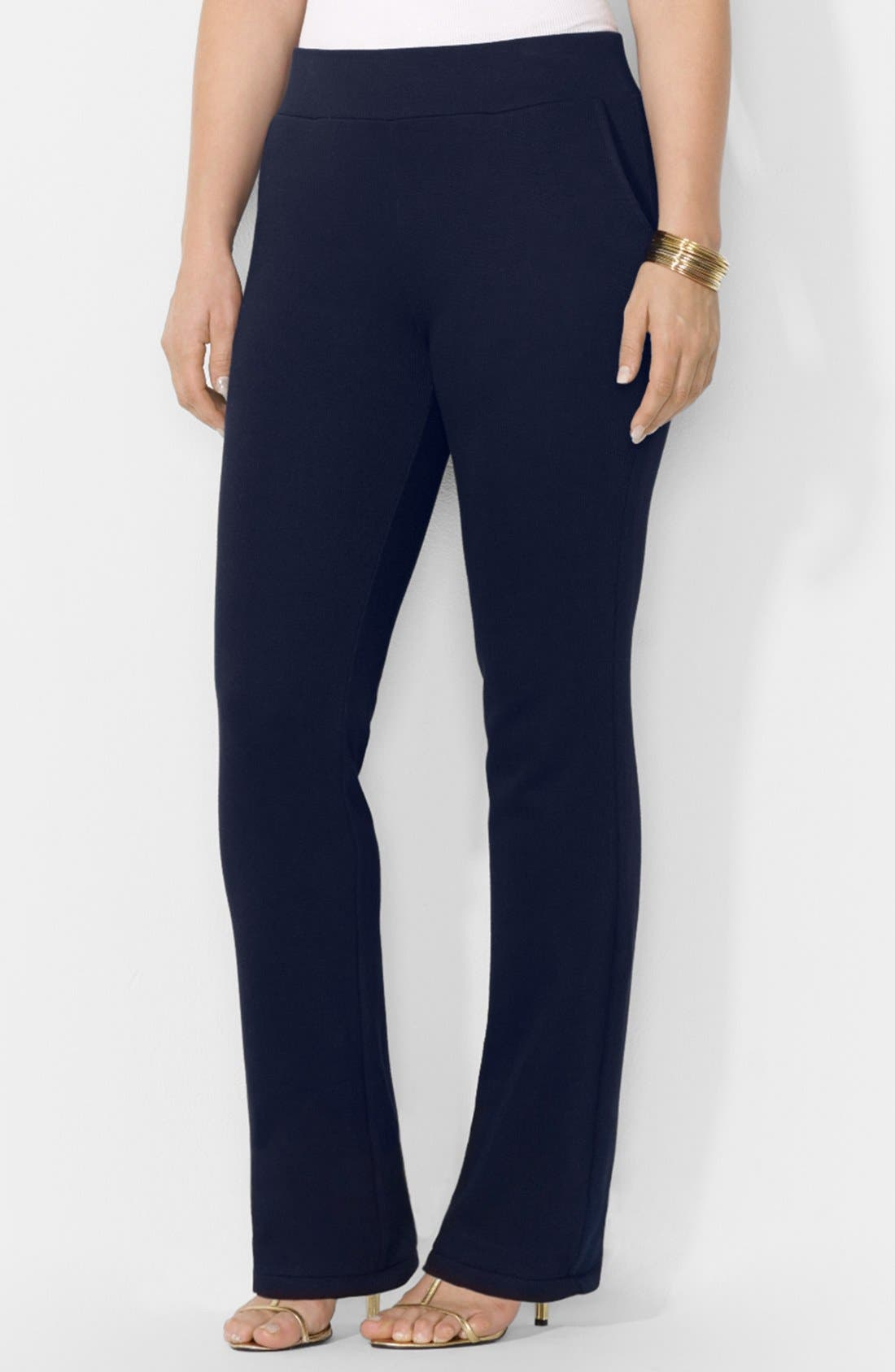 Alternate Image 1 Selected - Lauren Ralph Lauren Knit Pants (Plus Size)