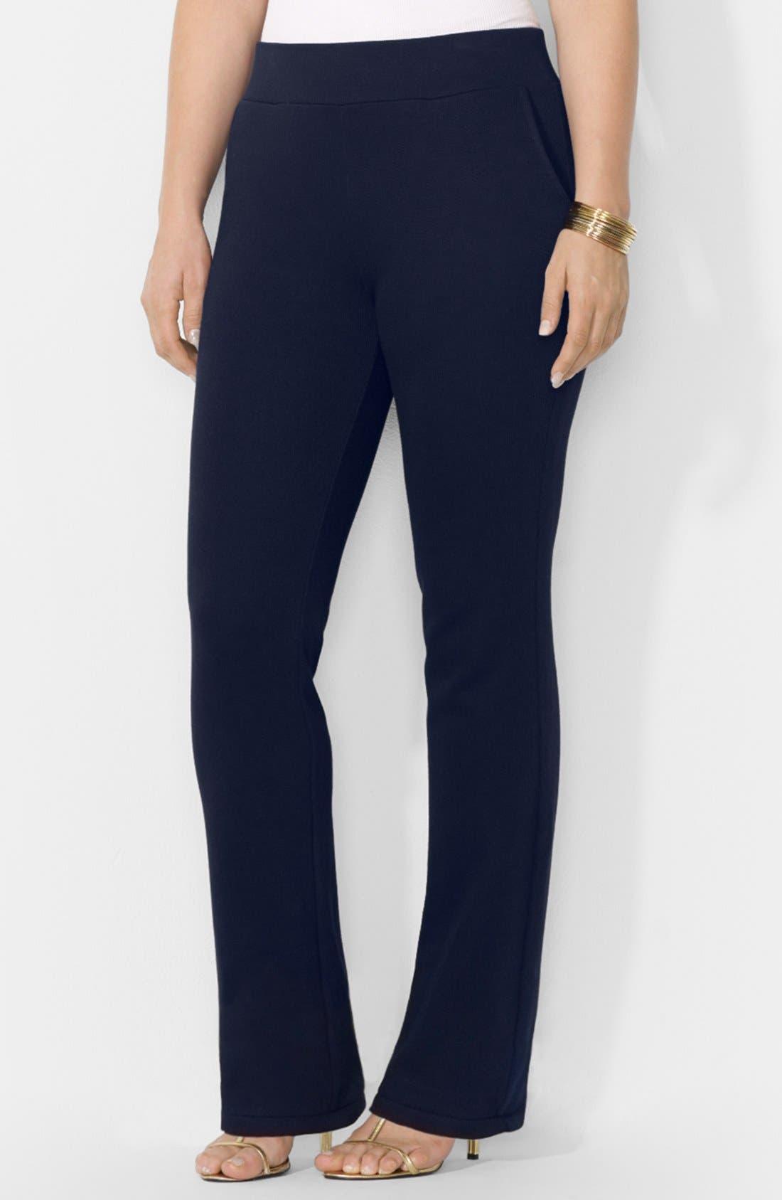 Main Image - Lauren Ralph Lauren Knit Pants (Plus Size)