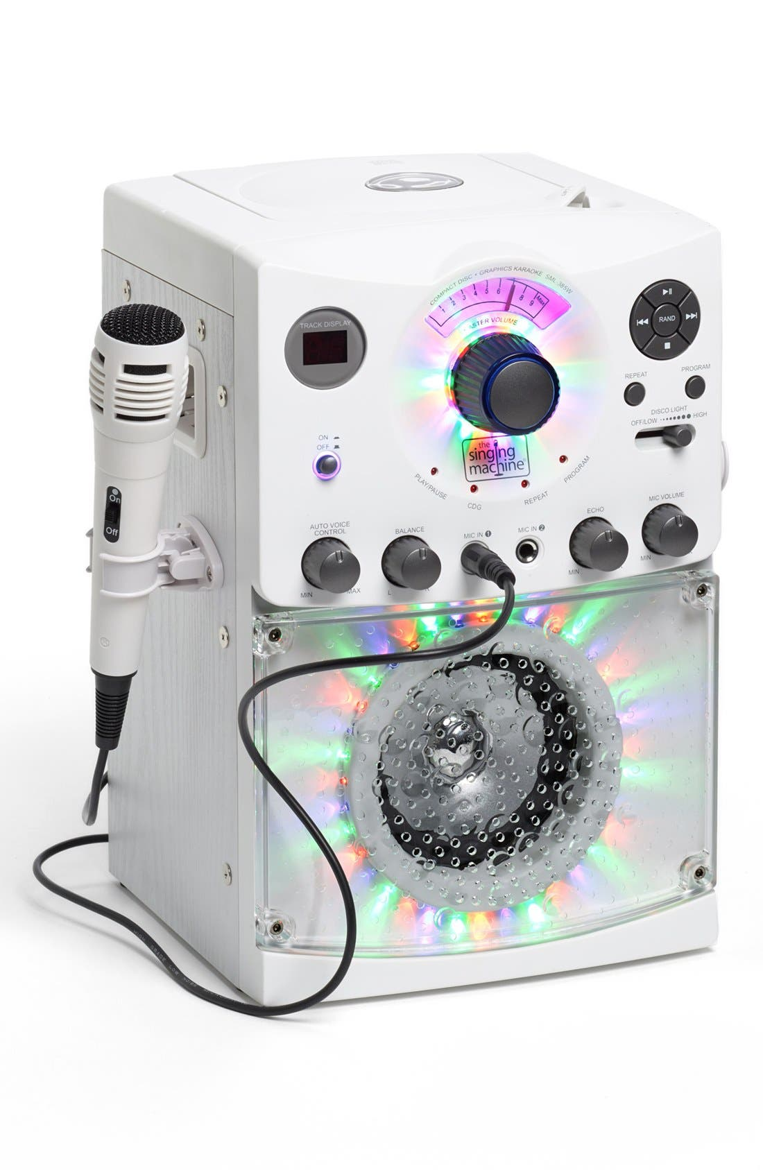 Singing Machine Karaoke System with Disco Lights