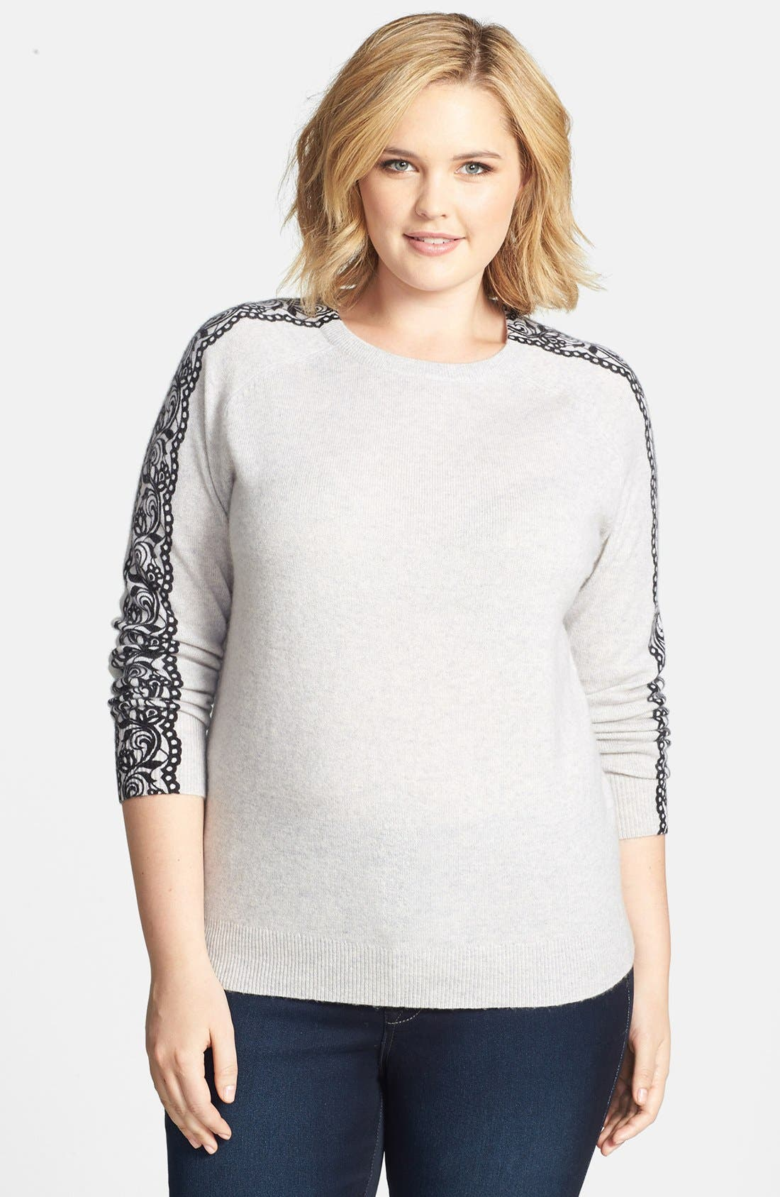 Alternate Image 1 Selected - Halogen® Wool & Cashmere Sweater (Plus Size)