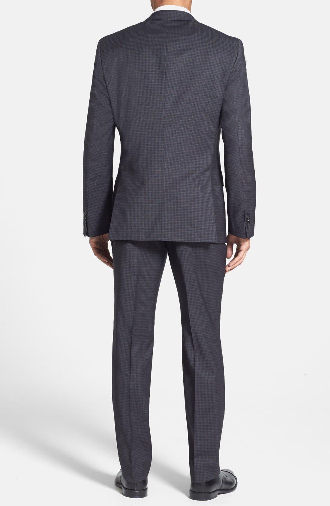 Alternate Image 2  - BOSS HUGO BOSS 'Huge/Genius' Trim Fit Check Suit