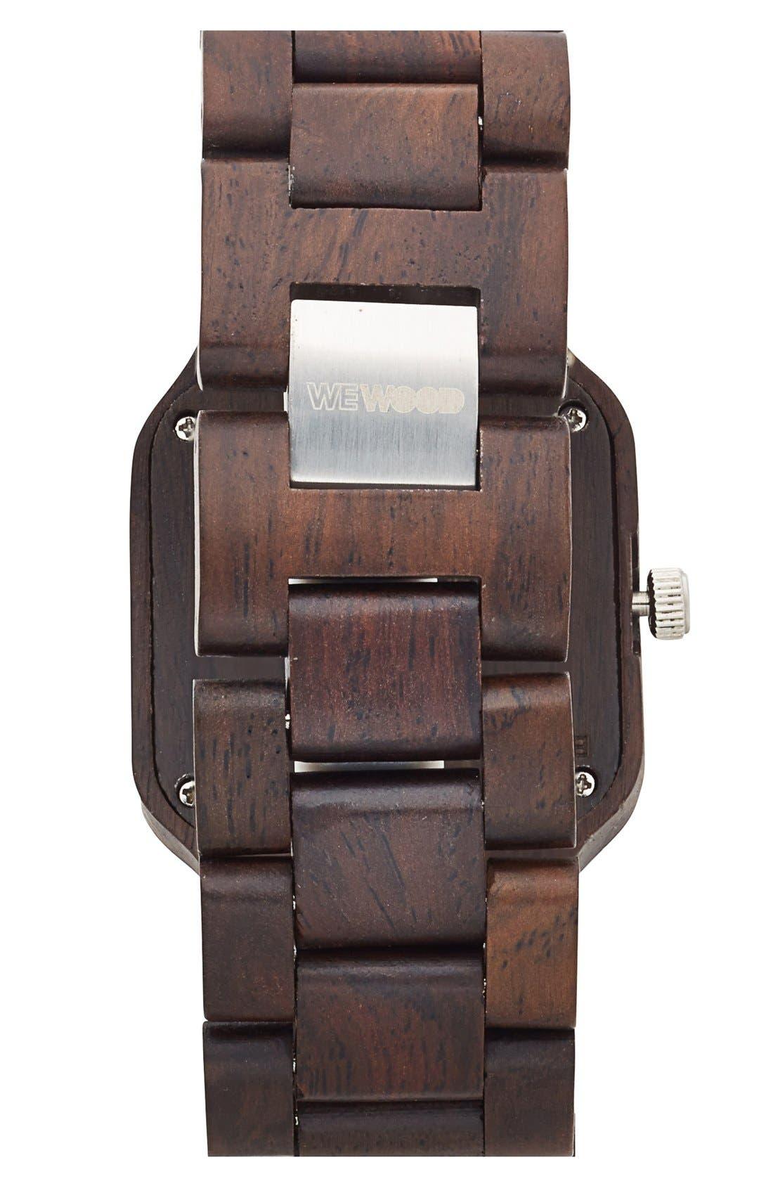 Alternate Image 2  - WeWOOD 'Metis' Square Wood Bracelet Watch, 38mm