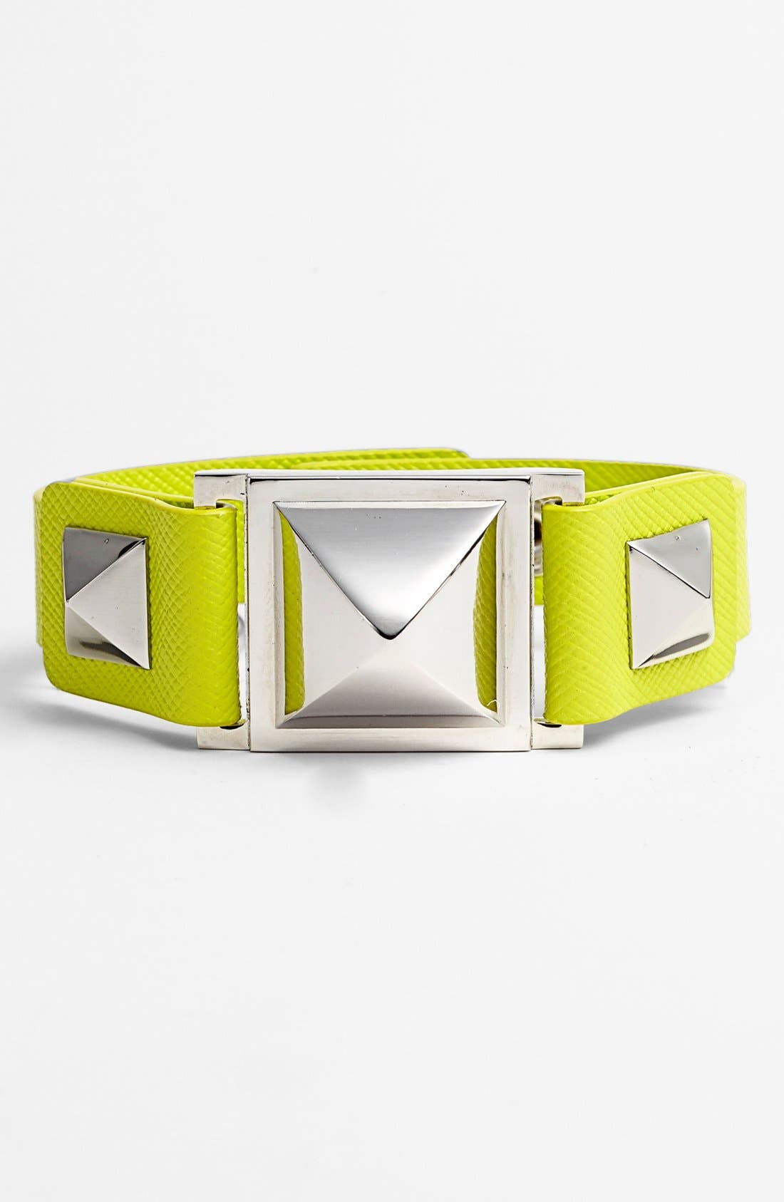 Alternate Image 1 Selected - Vince Camuto Pyramid Studded Leather Bracelet