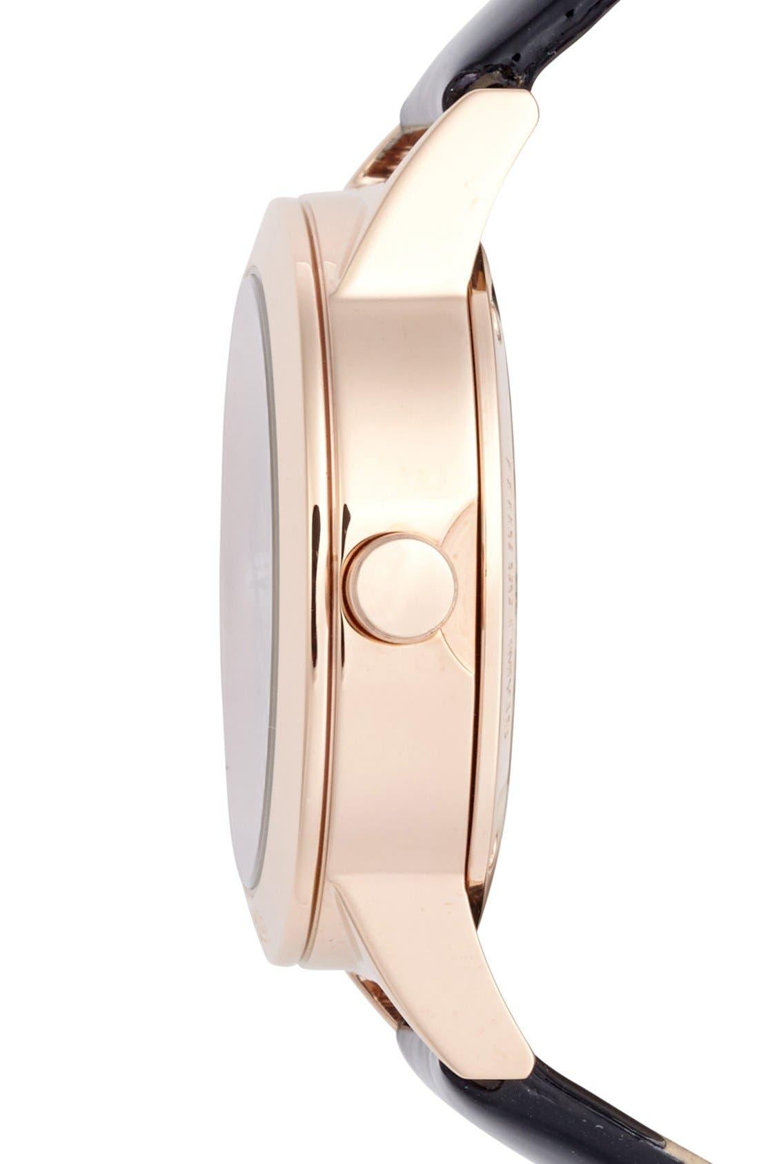 Alternate Image 3  - Folli Follie 'Heart 4 Heart' Crystal Dial Leather Strap Watch, 36mm