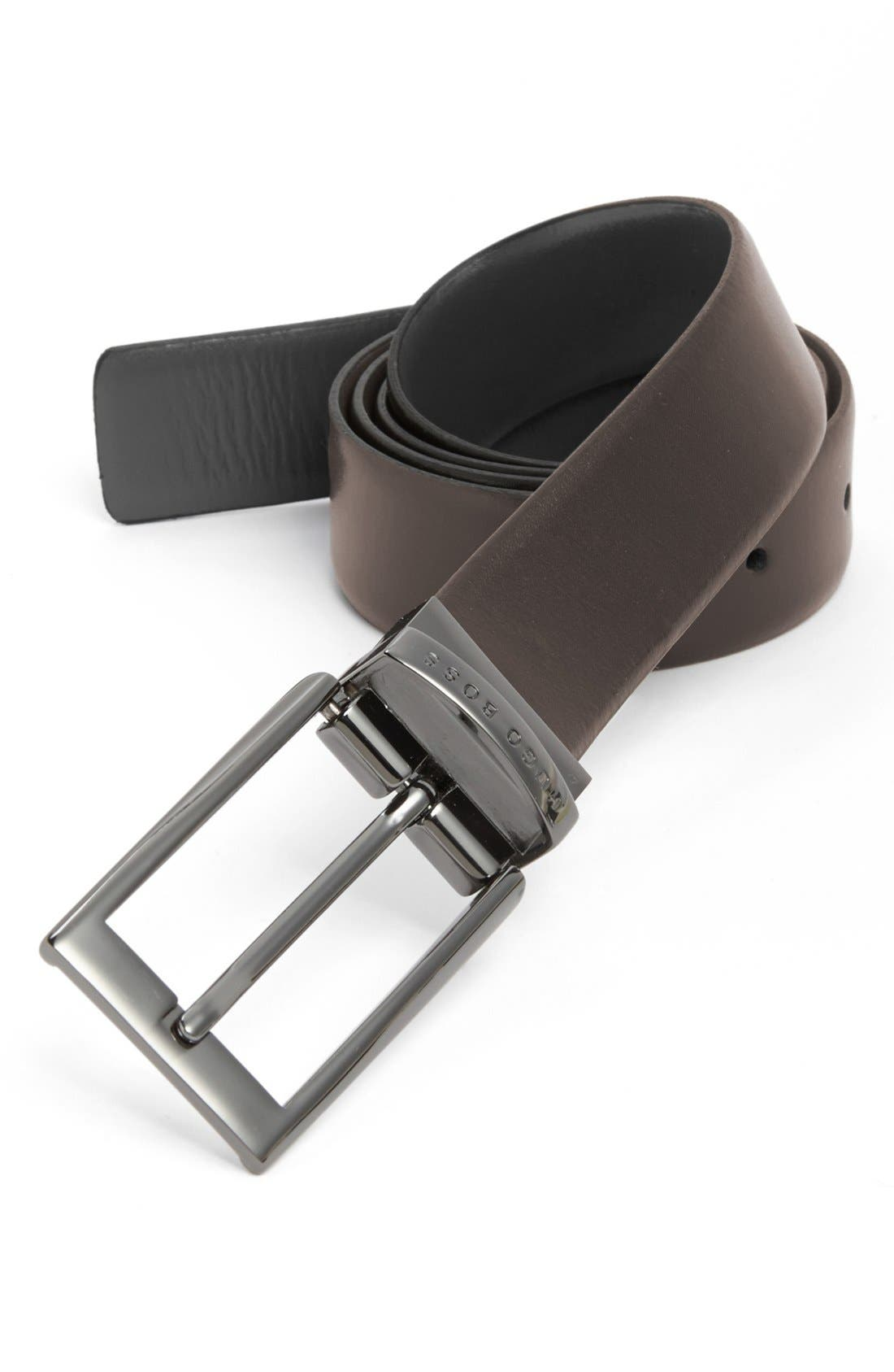 Alternate Image 2  - BOSS Reversible Leather Belt