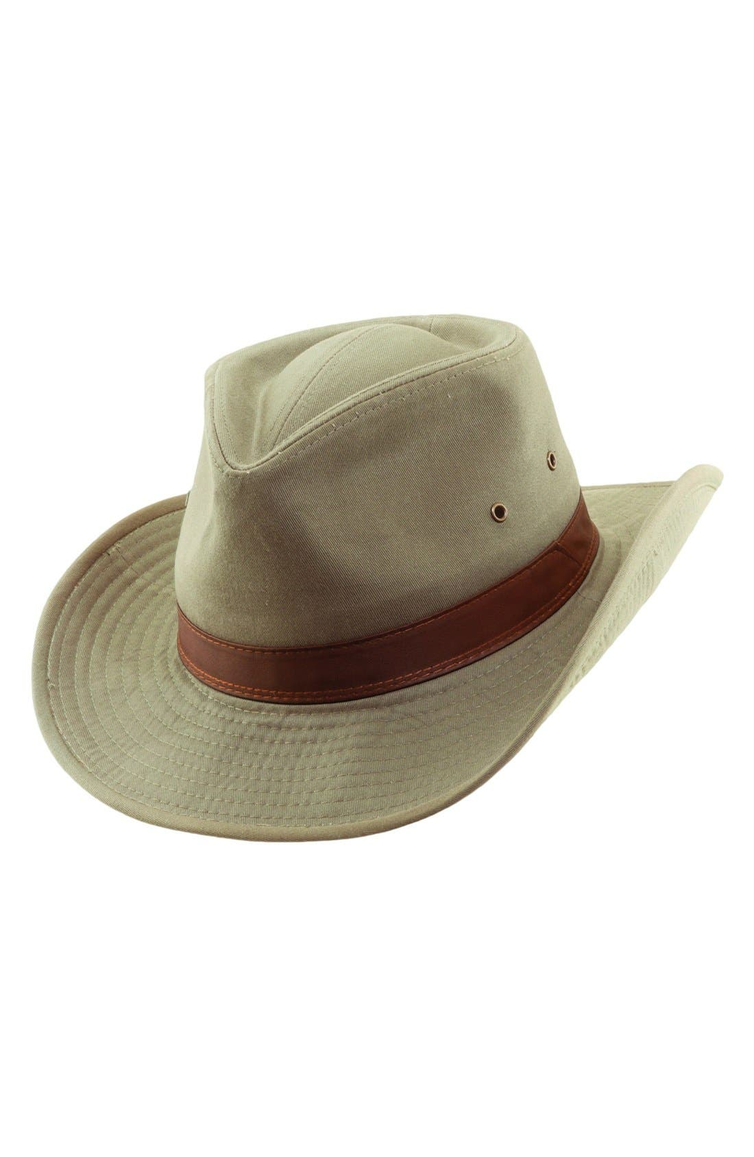 Alternate Image 1 Selected - Dorfman Pacific Cotton Outback Hat