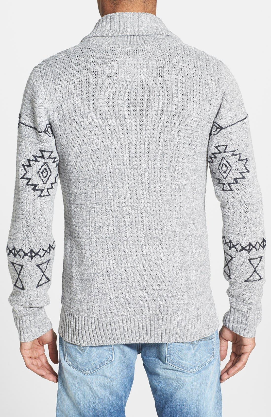 Alternate Image 2  - ZANEROBE 'Sloan' Cable Knit Shawl Cardigan