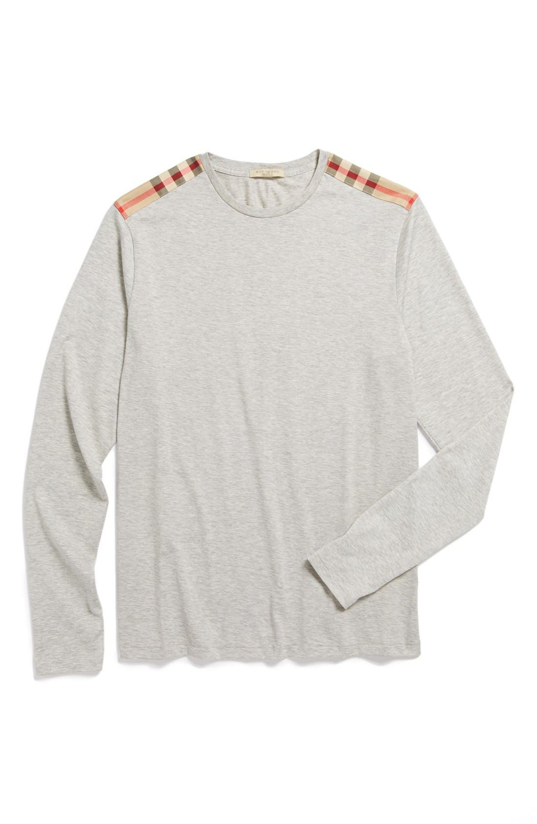 Alternate Image 1 Selected - Burberry Brit Check Trim Crewneck T-Shirt