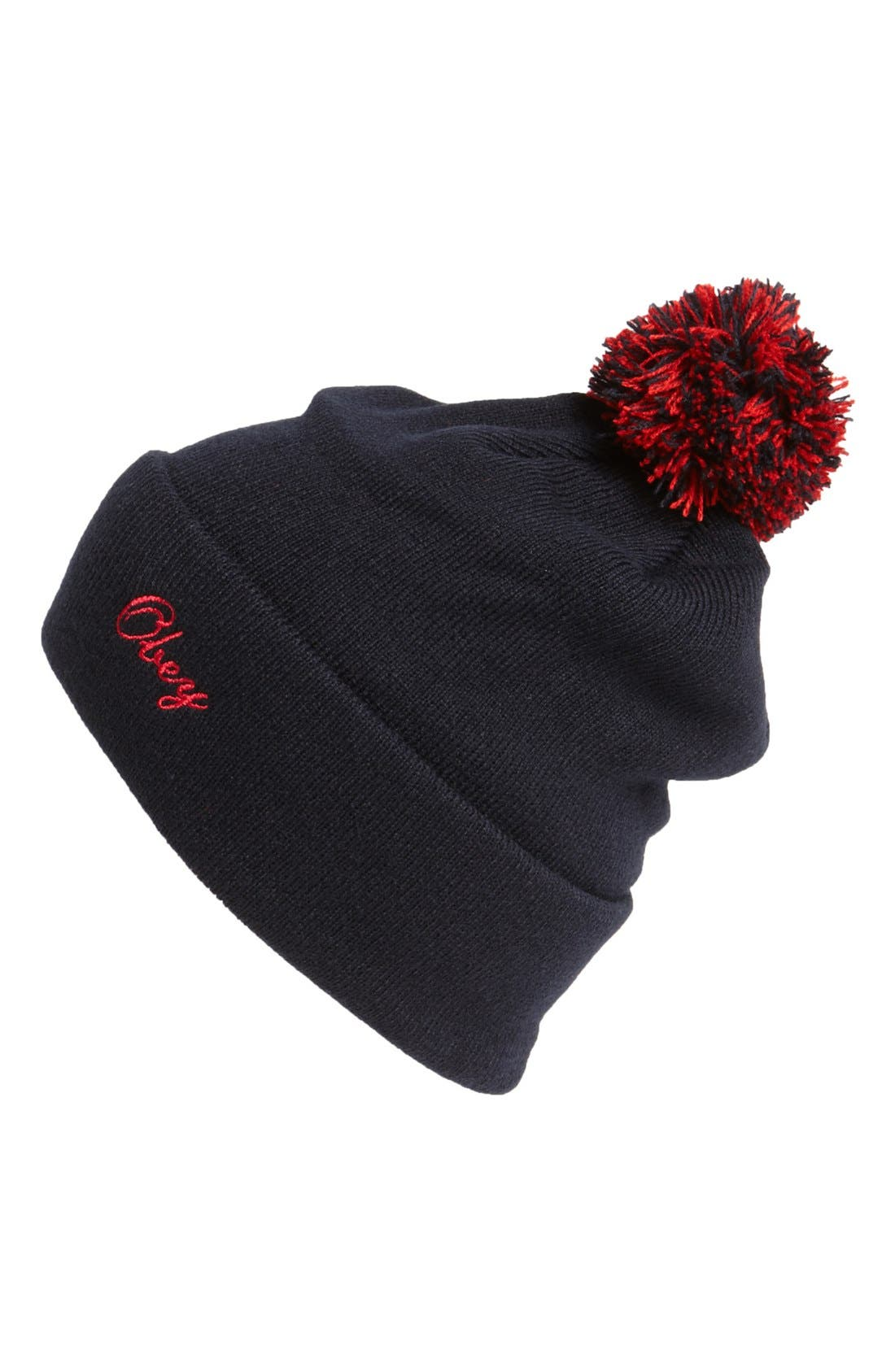 Alternate Image 1 Selected - Obey 'Sideline' Pompom Knit Cap