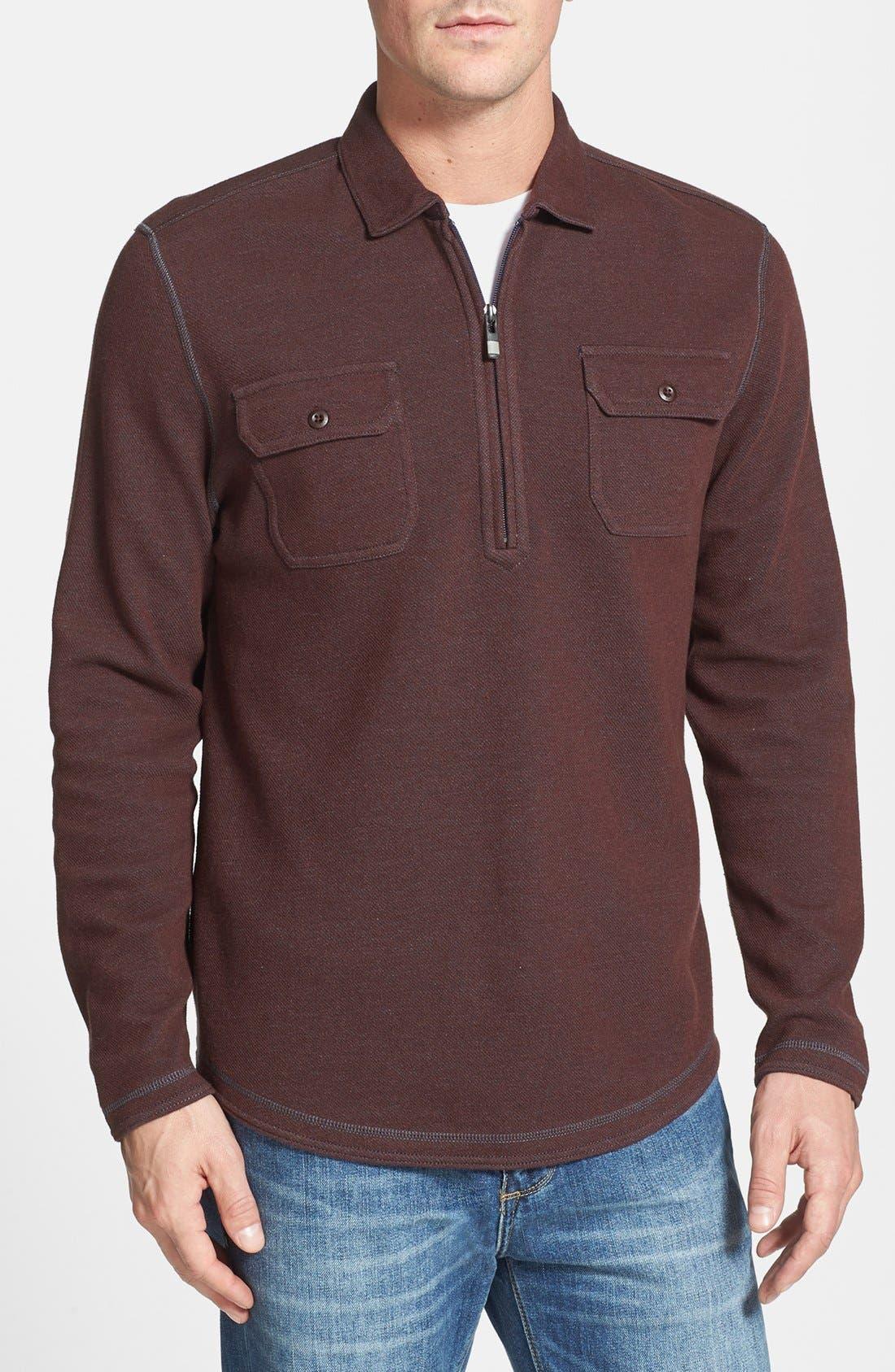 Main Image - Tommy Bahama Denim 'Bob Twillin' Island Modern Fit Half Zip Sweatshirt