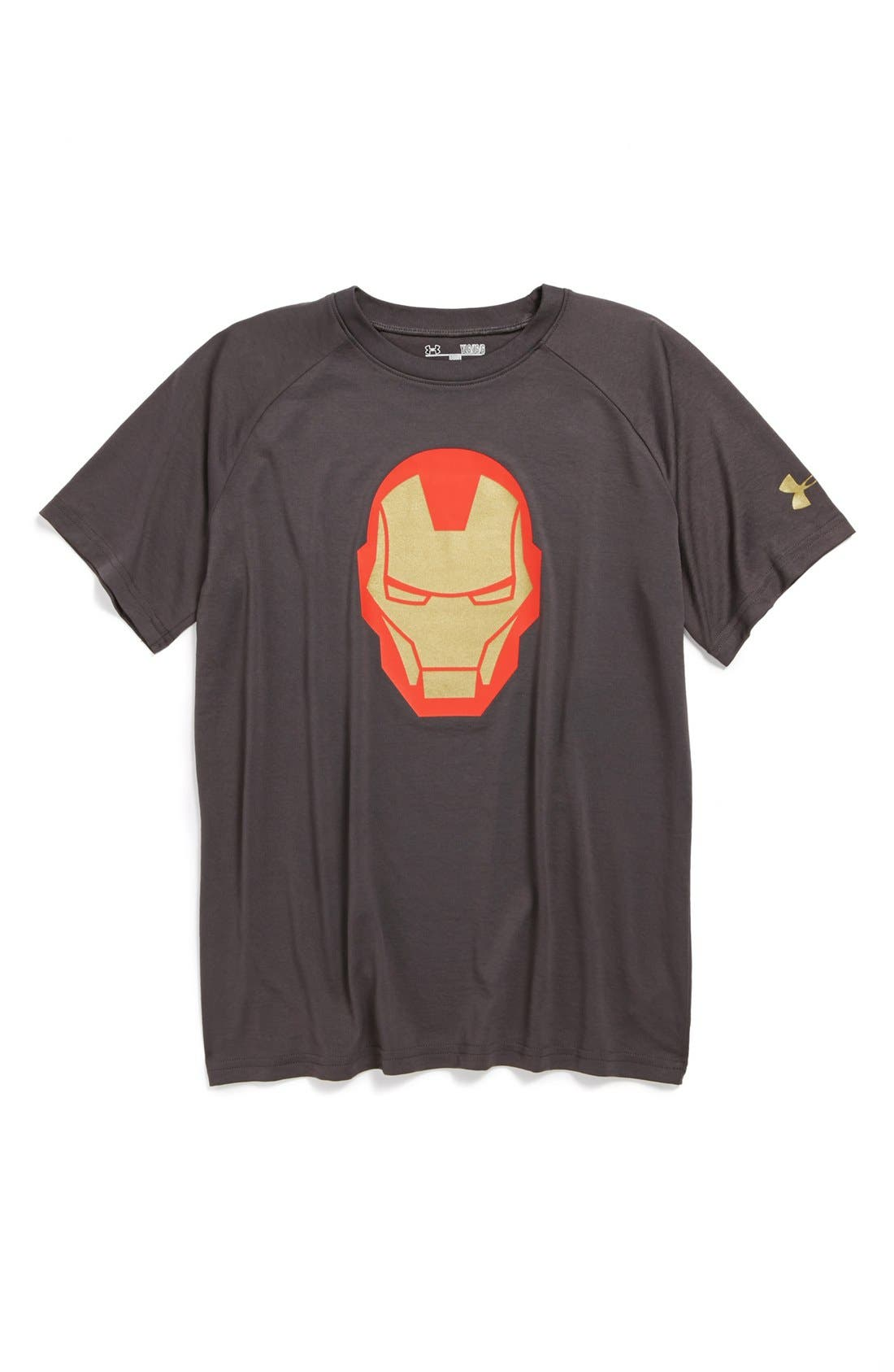 Alternate Image 1 Selected - Under Armour 'Iron Man' HeatGear® T-Shirt (Big Boys)