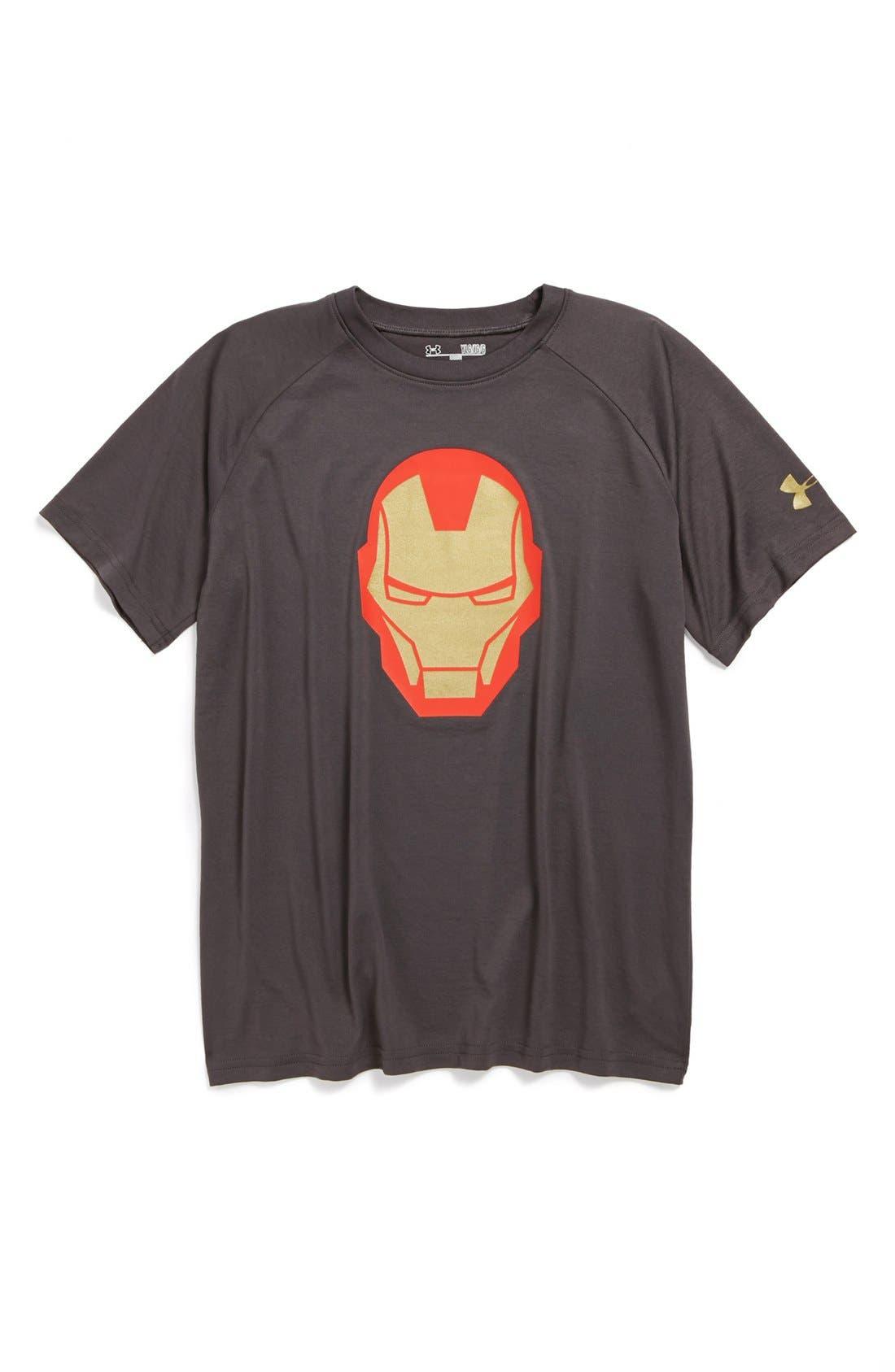 Main Image - Under Armour 'Iron Man' HeatGear® T-Shirt (Big Boys)