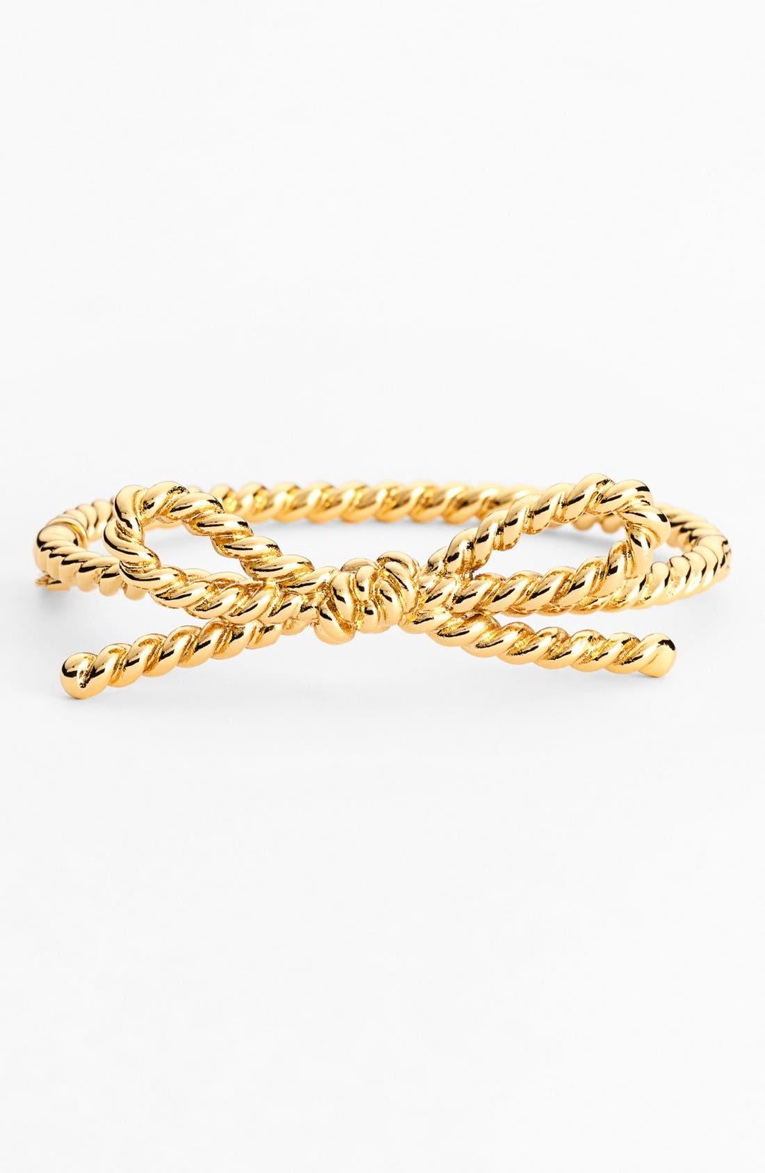 Alternate Image 1 Selected - kate spade new york 'skinny mini' rope bow bangle bracelet