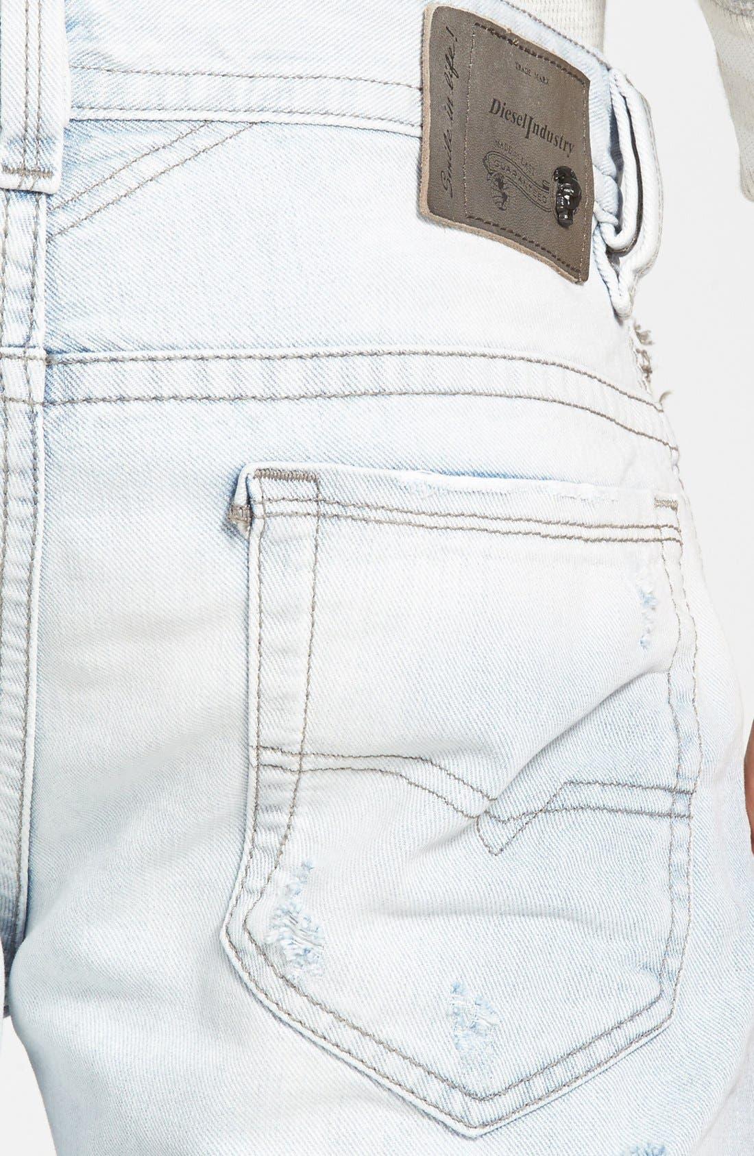 Alternate Image 4  - DIESEL® 'Thavar' Skinny Fit Jeans (0825M)