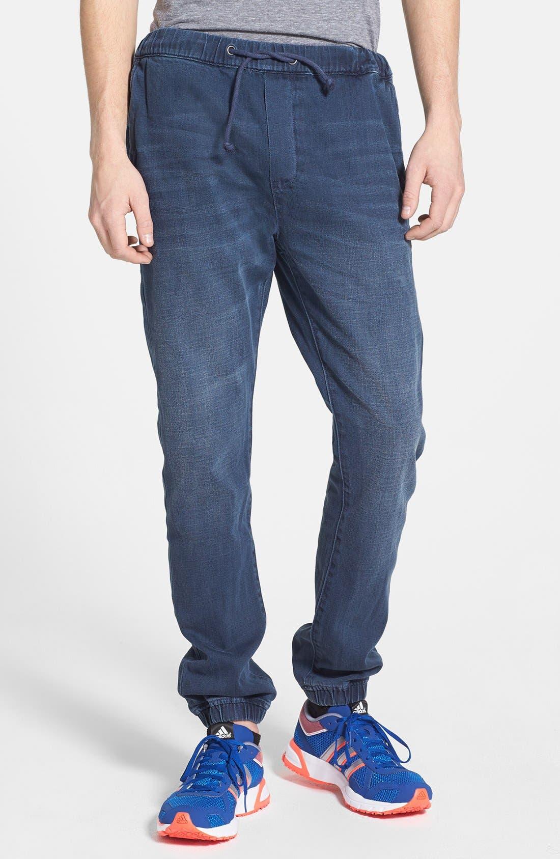 Alternate Image 1 Selected - Topman Denim Jogger Sweatpants