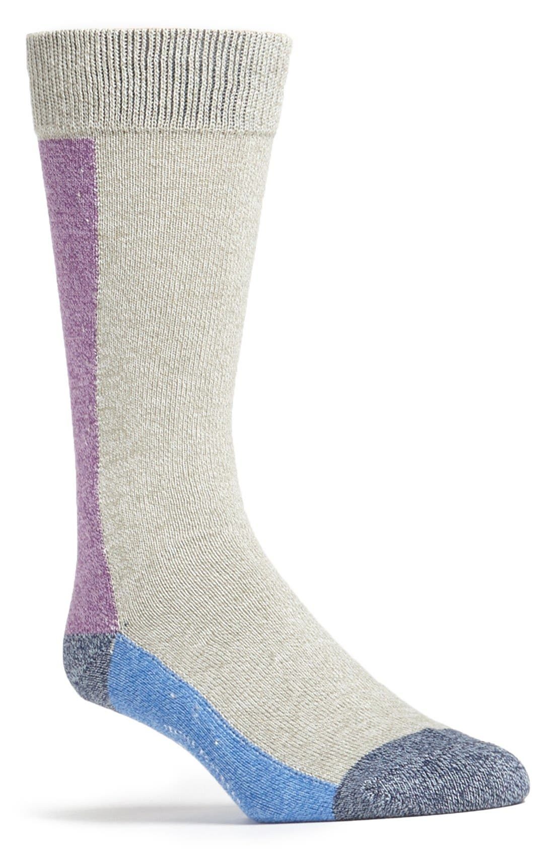 Alternate Image 1 Selected - Mr. Gray Colorblock Socks