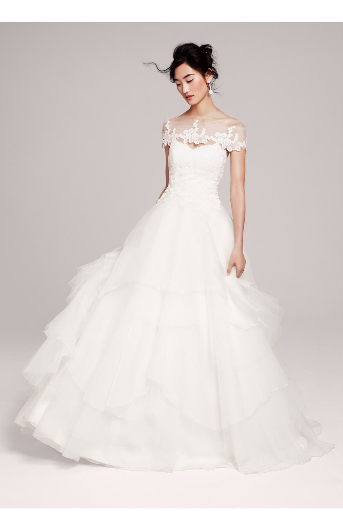 Alternate Image 5  - Hayley Paige 'Mila' Strapless Silk Organza Wedding Dress (In Stores Only)
