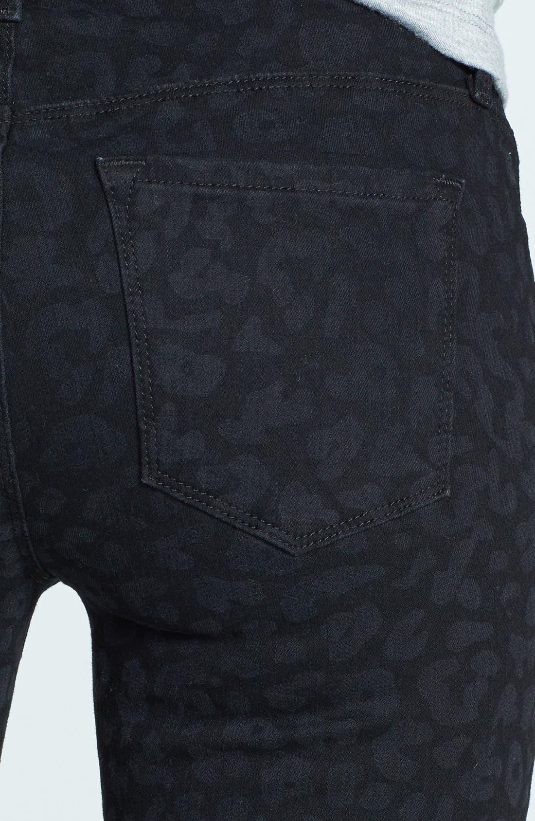 Alternate Image 3  - J Brand '620' Mid Rise Skinny Jeans (Black Leopard)