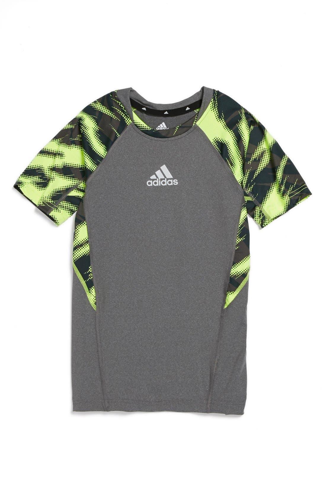 Alternate Image 1 Selected - adidas Tech Fit Performance T-Shirt (Big Boys)