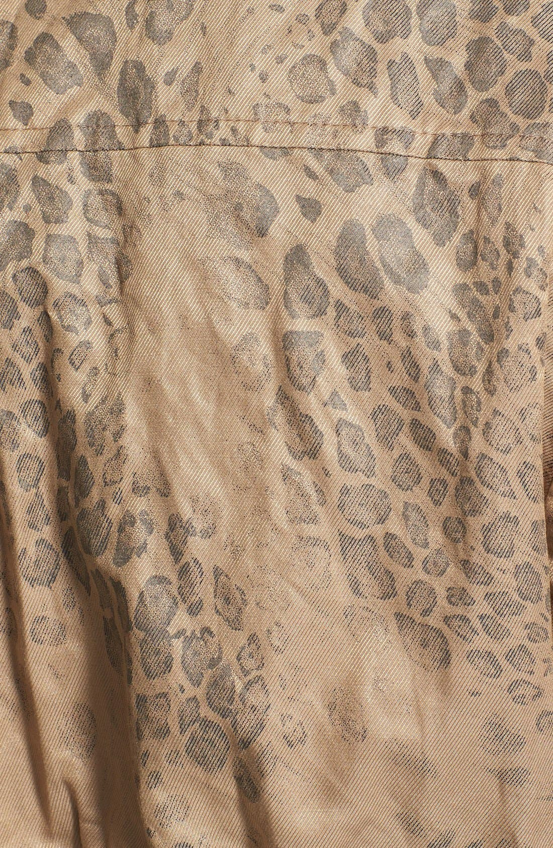 Alternate Image 3  - Two by Vince Camuto Leopard Print Anorak