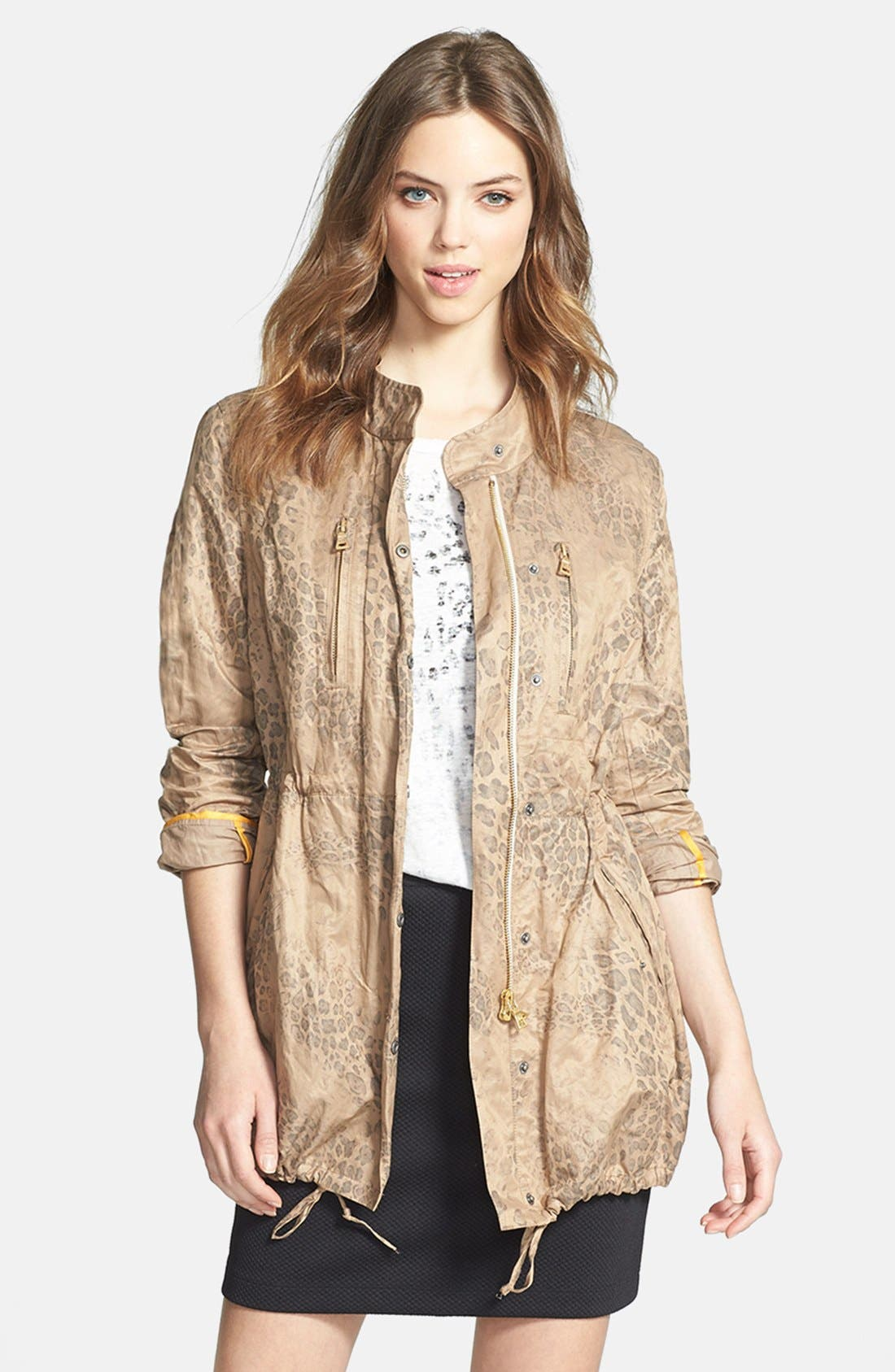 Main Image - Two by Vince Camuto Leopard Print Anorak