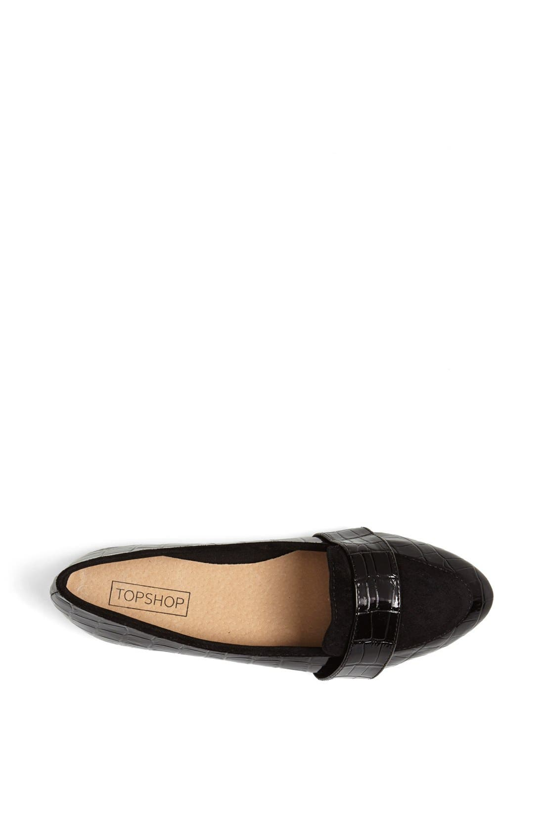Alternate Image 3  - Topshop 'Mardi 2' Croc Embossed Flat